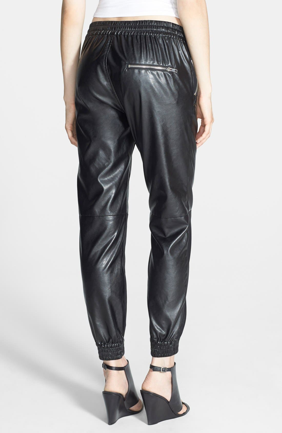Alternate Image 2  - BLANKNYC 'Face Lift' Faux Leather Track Pants