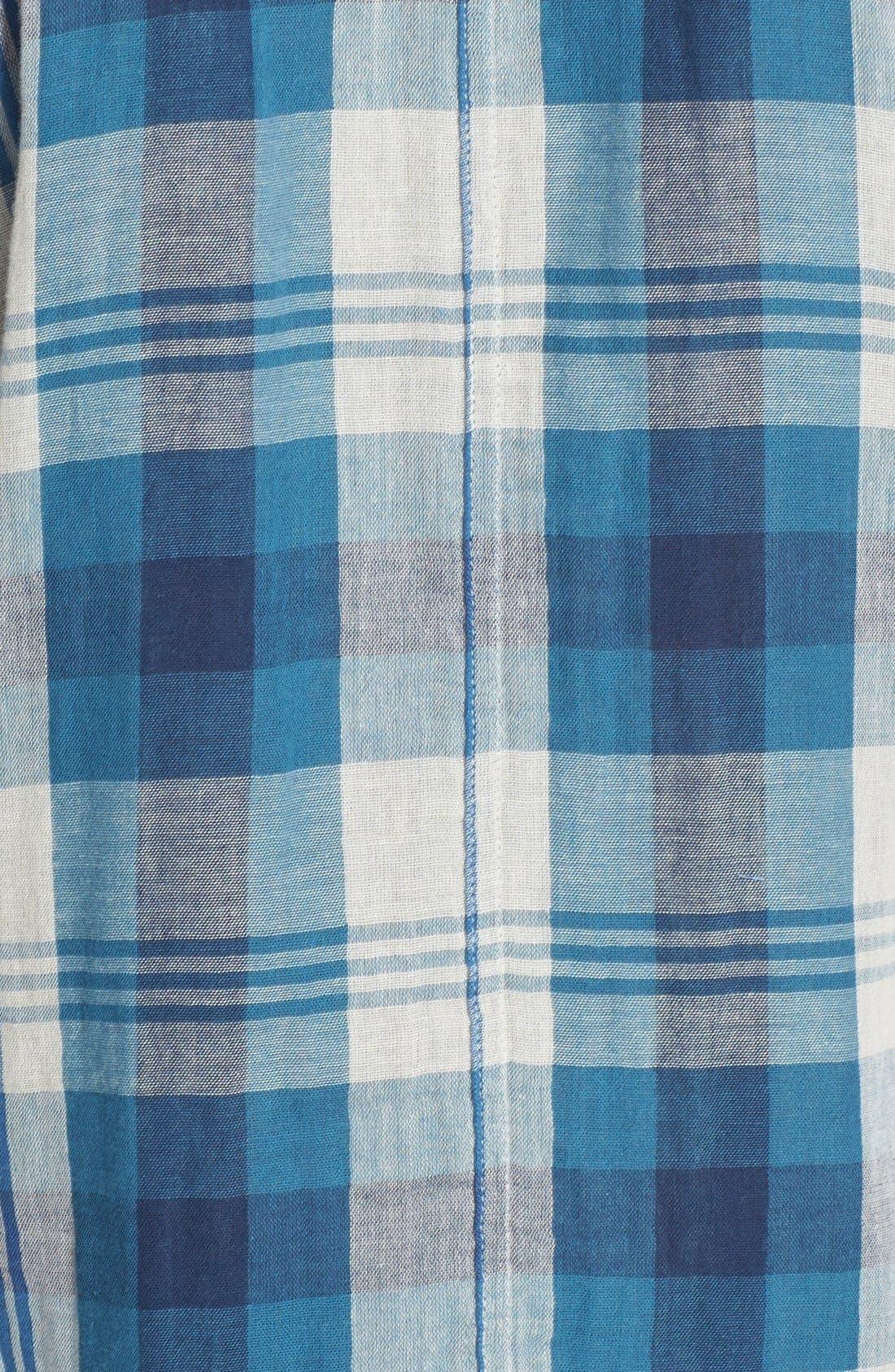 Alternate Image 3  - Velvet by Graham & Spencer Double Face Plaid Shirt