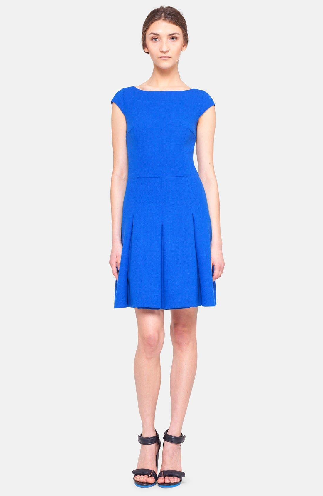 Main Image - Akris punto Cap Sleeve Jersey Dress