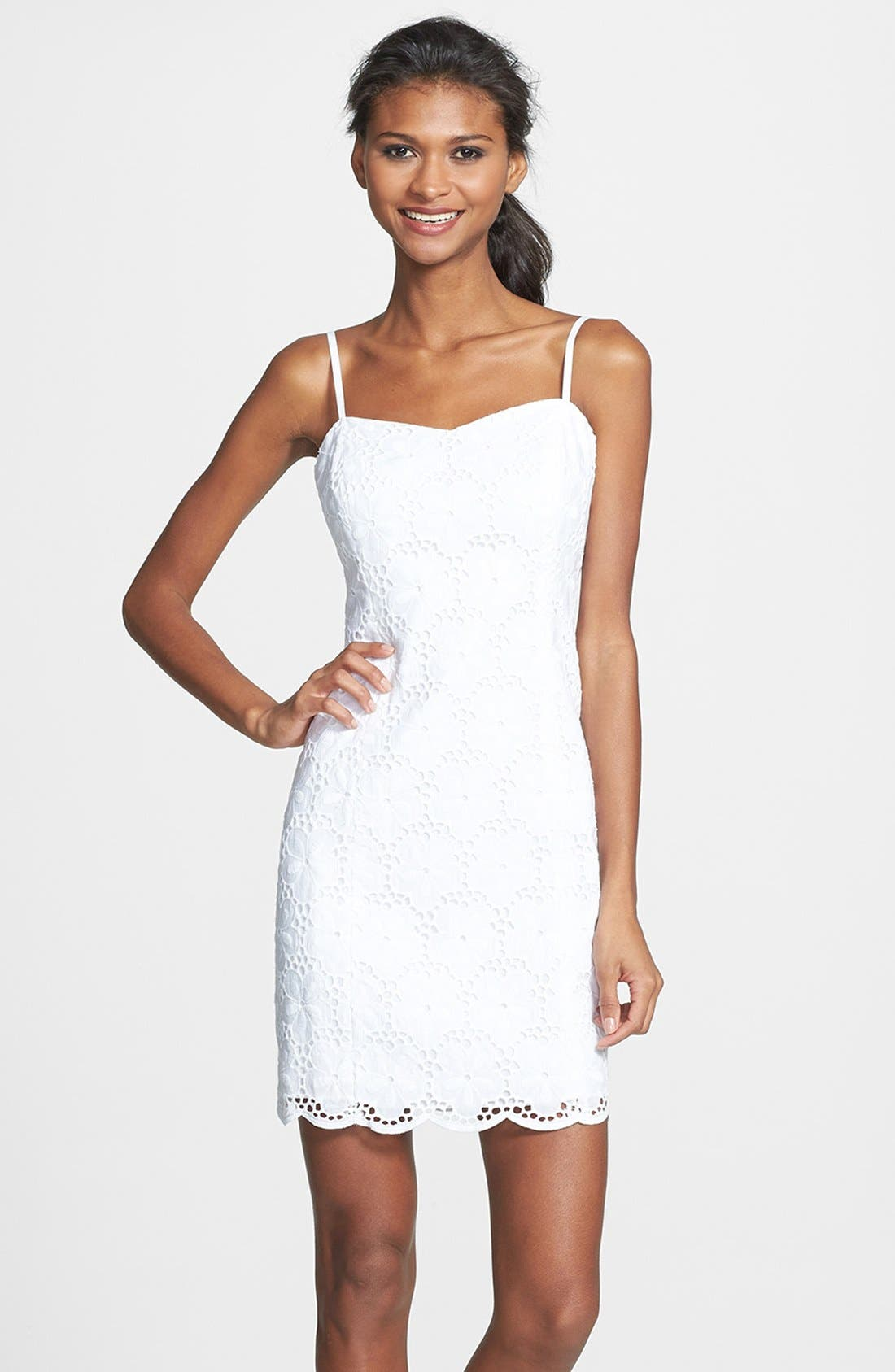 Alternate Image 1 Selected - Lilly Pulitzer® 'McCallum' Eyelet Tank Dress