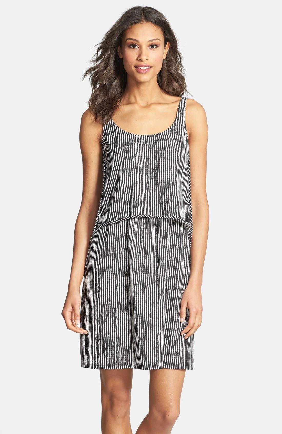 Main Image - Ivy & Blu Stripe Popover Tank Shift Dress