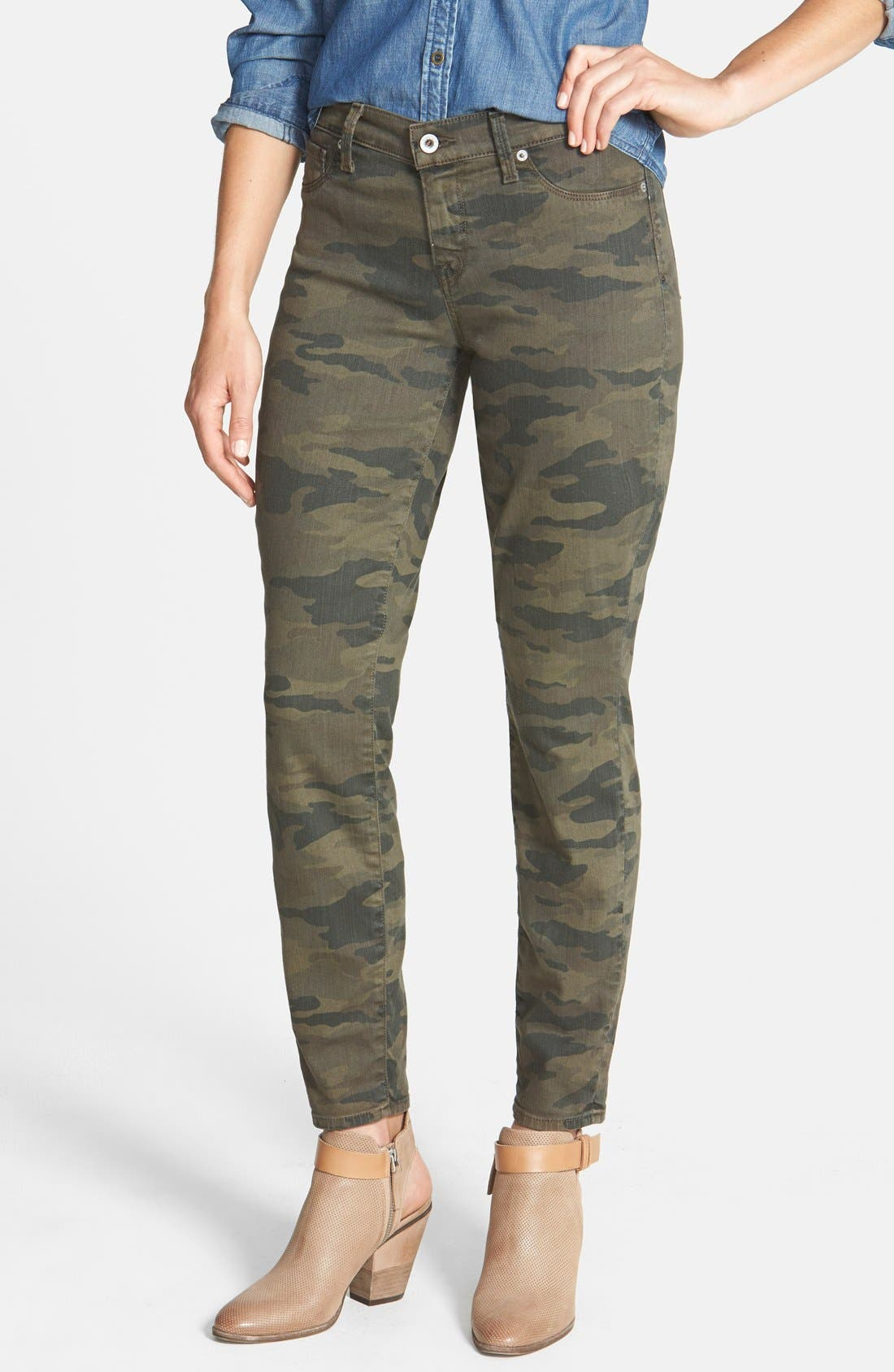 Alternate Image 1 Selected - Lucky Brand 'Sofia' Colored Stretch Skinny Jeans