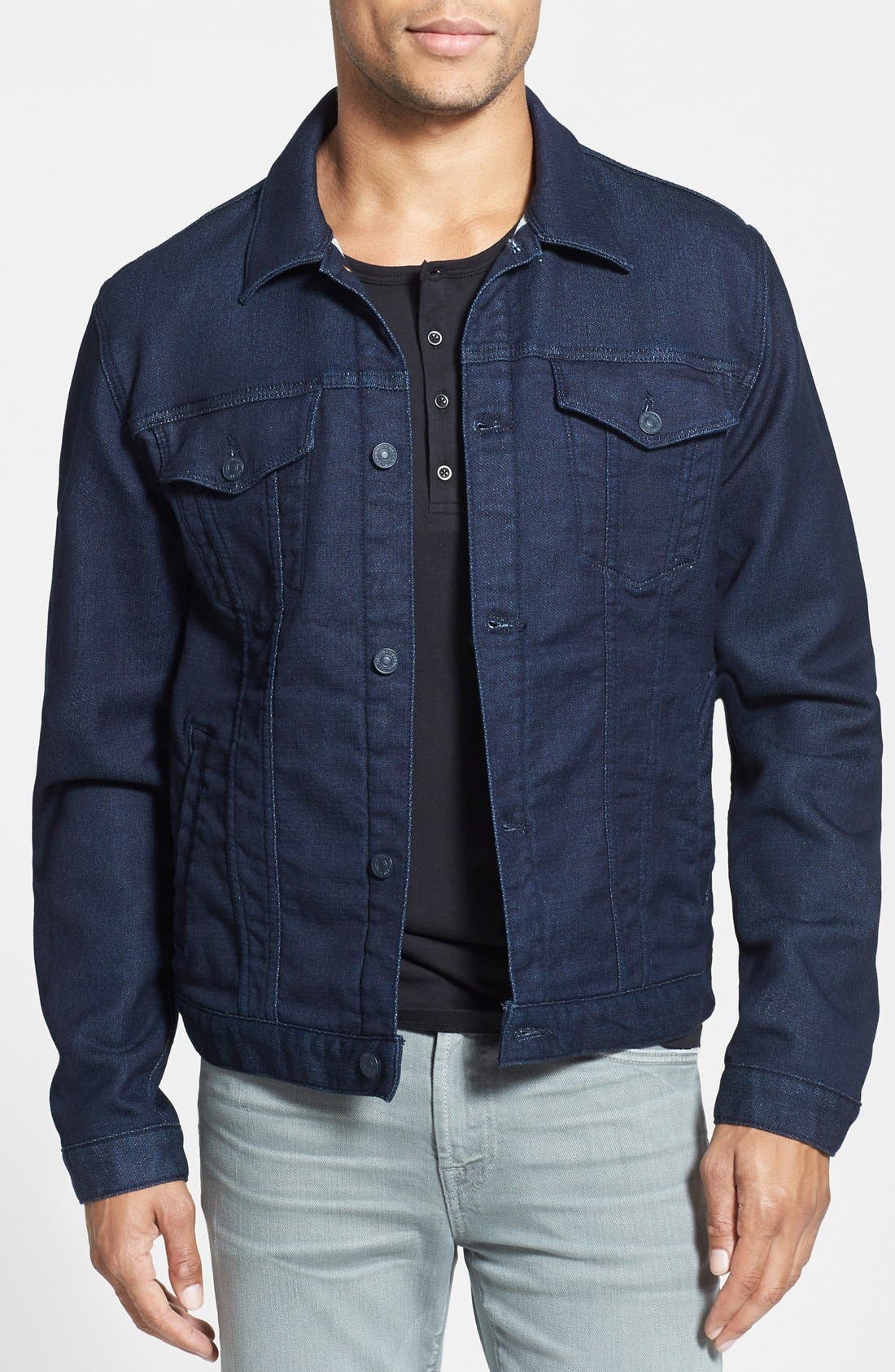 Alternate Image 1 Selected - 7 For All Mankind® Modern Knit Jean Jacket