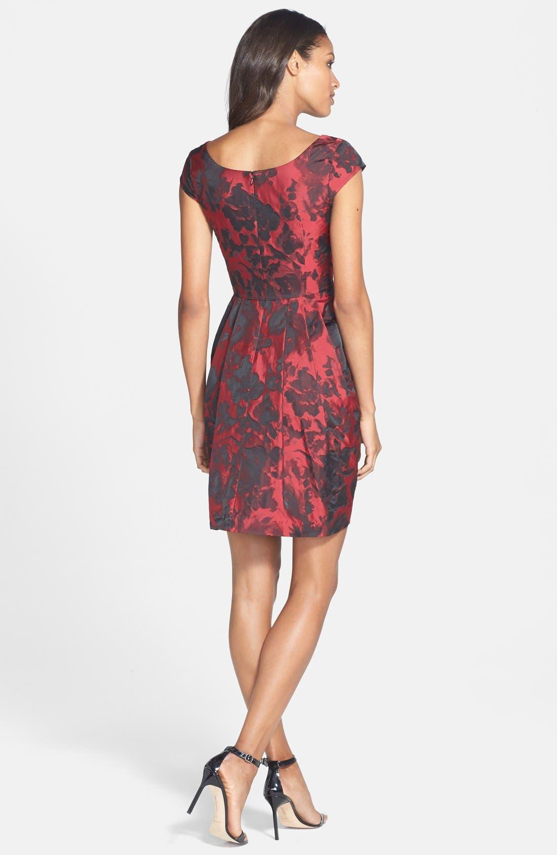Alternate Image 2  - Betsey Johnson Floral Jacquard Sheath Dress