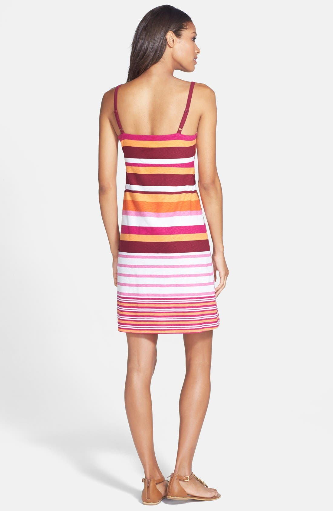 Alternate Image 2  - Tommy Bahama 'Pier Stripe' Cotton Knit Slipdress