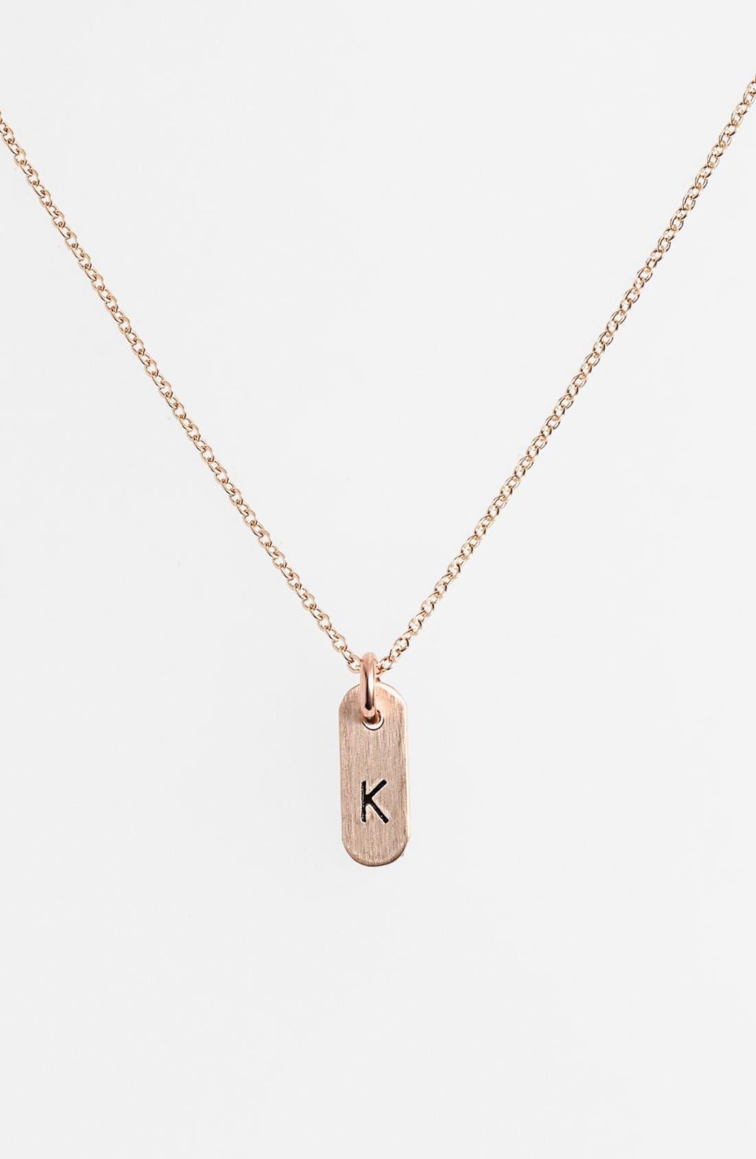 Nashelle 'Mini Initial' 14k-Gold Fill Bar Necklace
