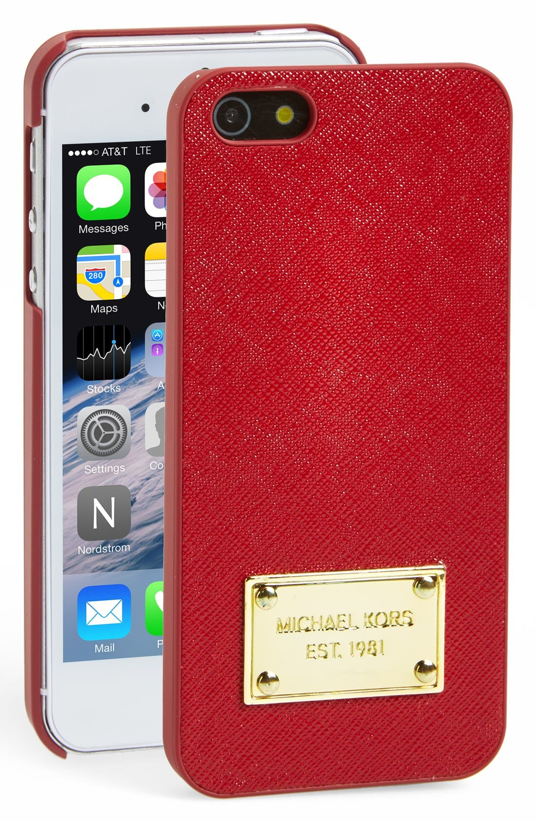 Alternate Image 1 Selected - MICHAEL Michael Kors Saffiano Leather iPhone 5 Case