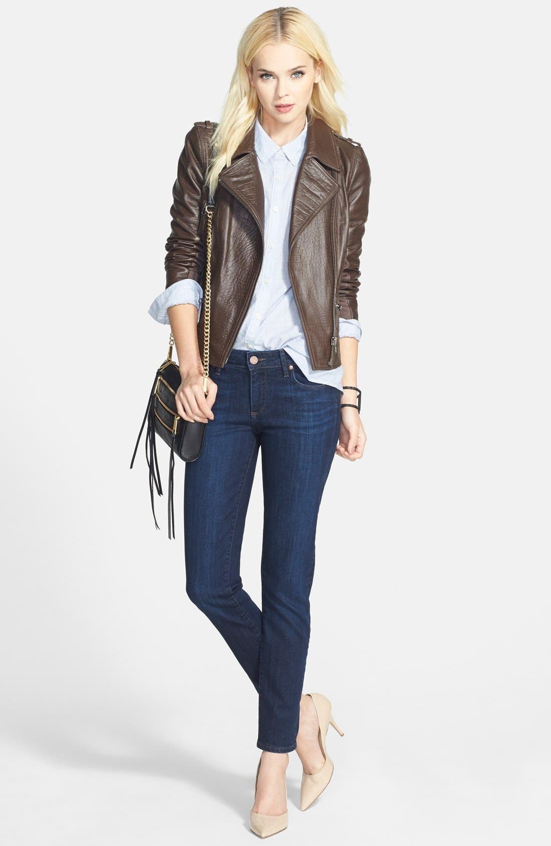 Alternate Image 9  - Paige Denim 'Skyline' Ankle Peg Skinny Jeans (Dixie) (Nordstrom Exclusive)