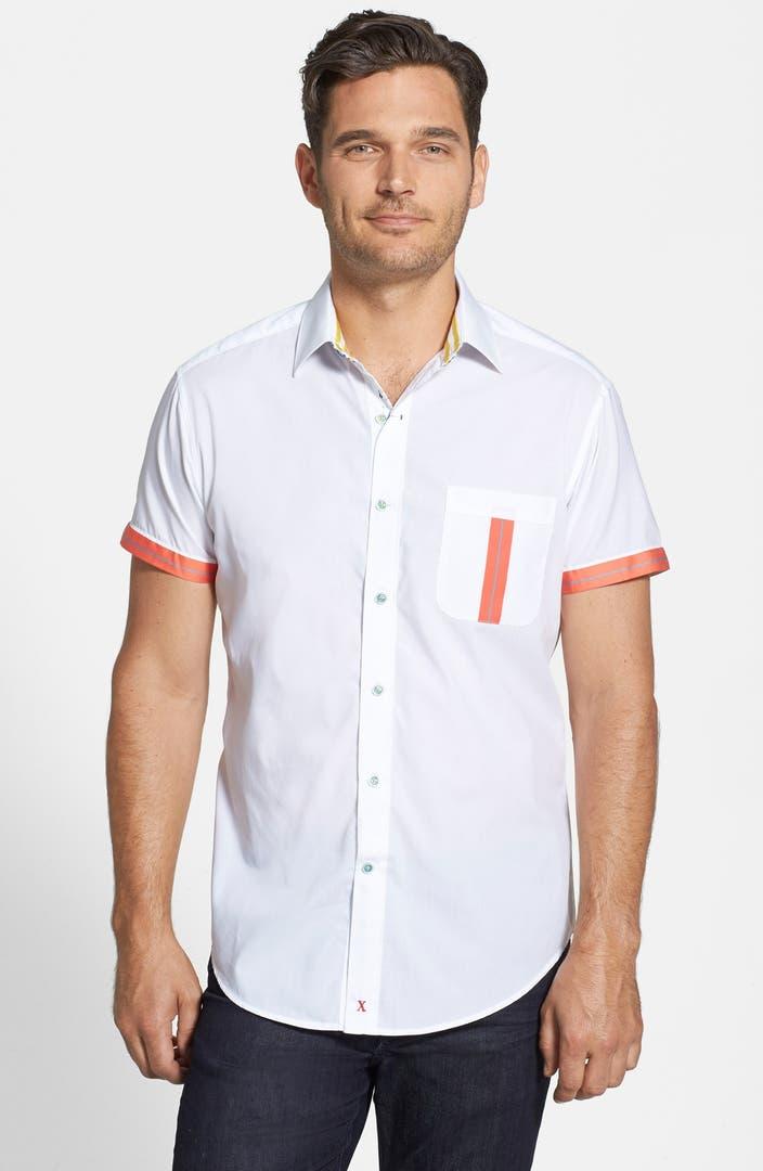 Robert graham 39 spumani 39 cotton short sleeve sport shirt for Robert graham sport shirt