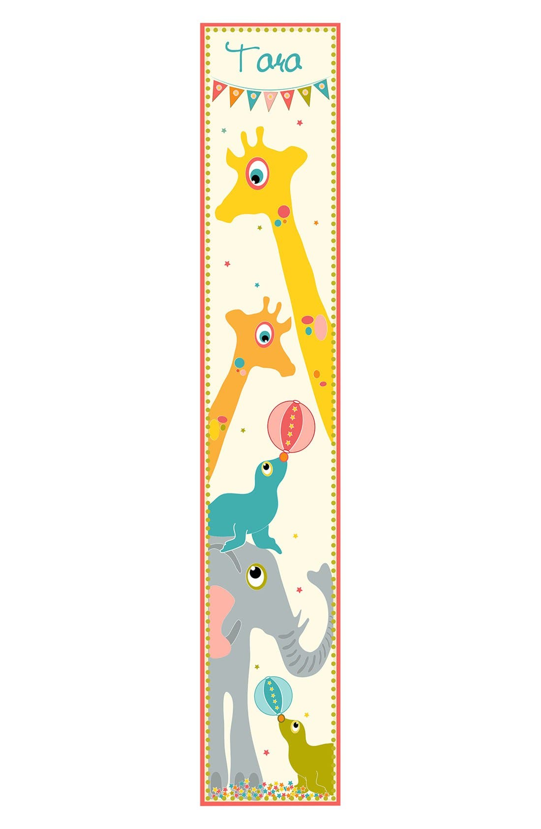 Main Image - Stupell 'Giraffe' Personalized Growth Chart