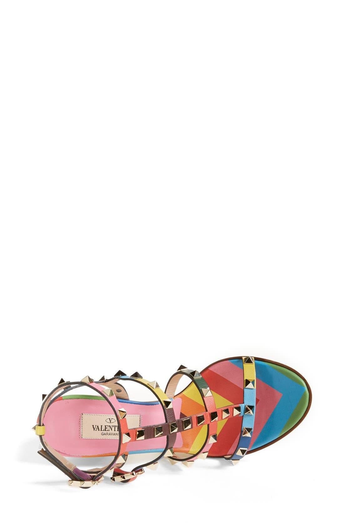 Alternate Image 3  - Valentino 'Rockstud' T-Strap Sandal (Women)