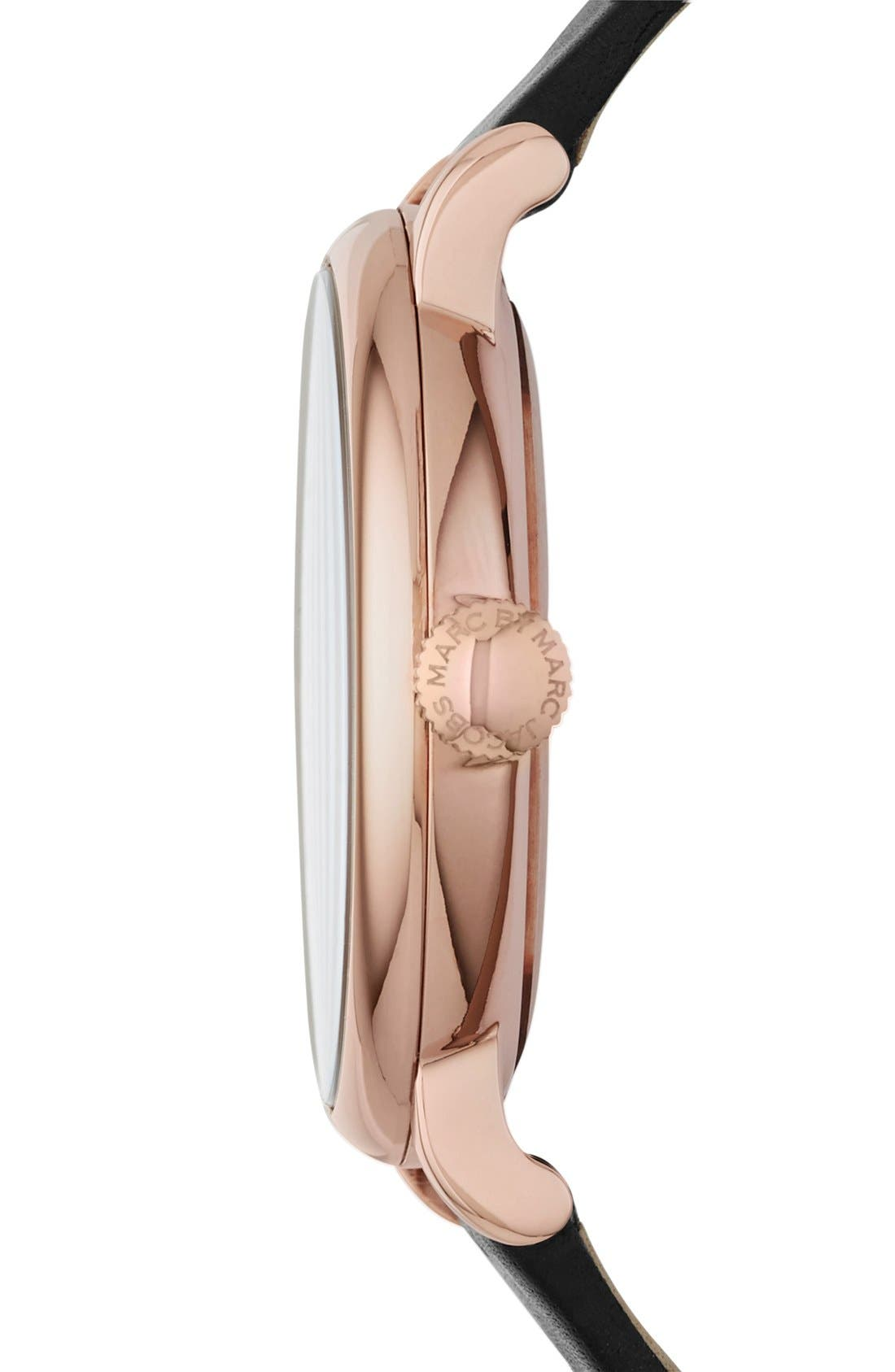 Alternate Image 3  - MARC JACOBS 'Baker' Leather Strap Watch, 37mm (Nordstrom Exclusive)