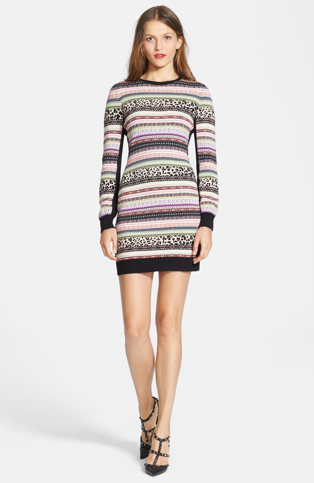 Alternate Image 1 Selected - RED Valentino Jacquard Sweater Dress