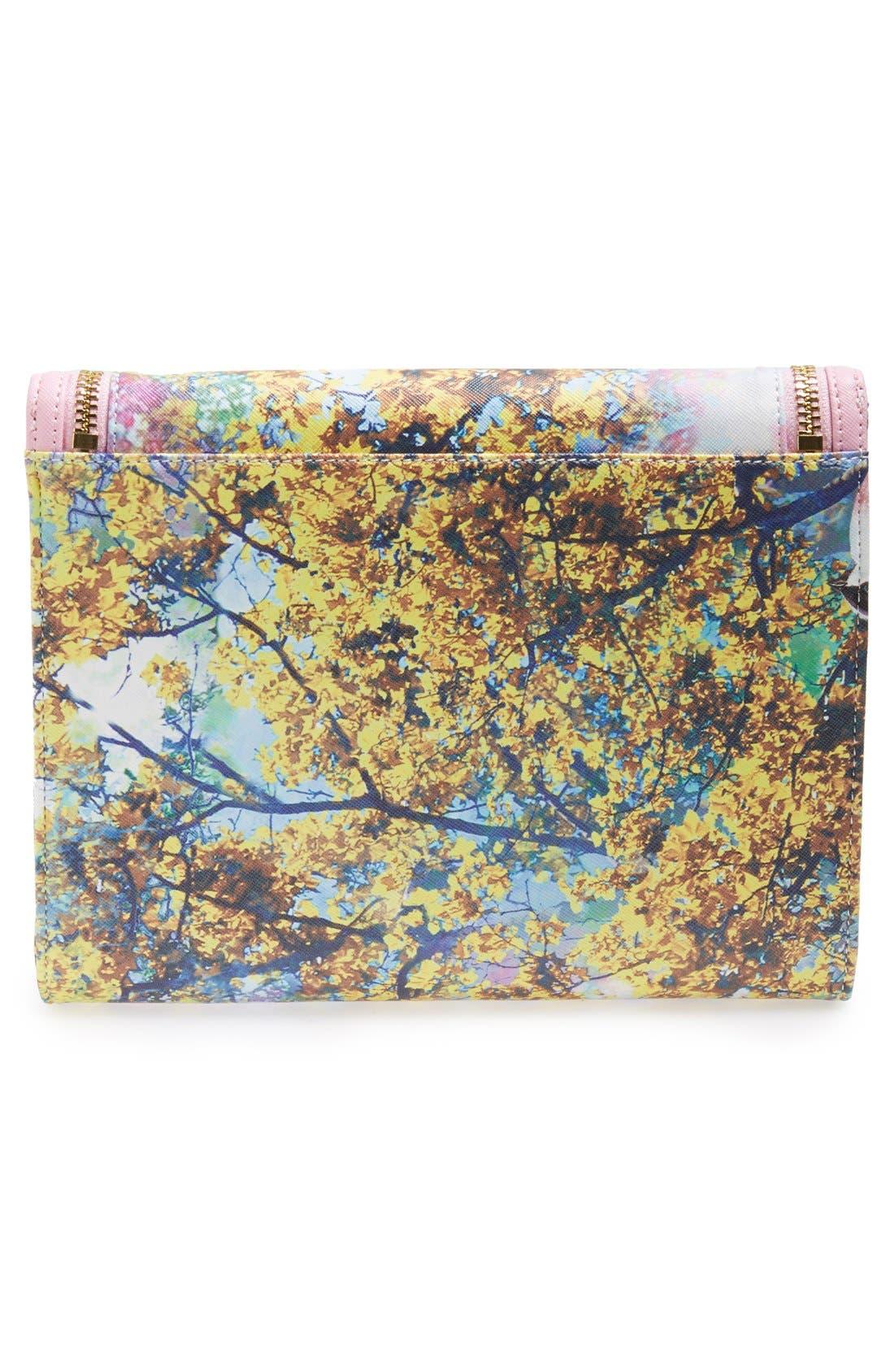 Alternate Image 3  - Ted Baker London 'Pretty Trees' Print Flap Clutch