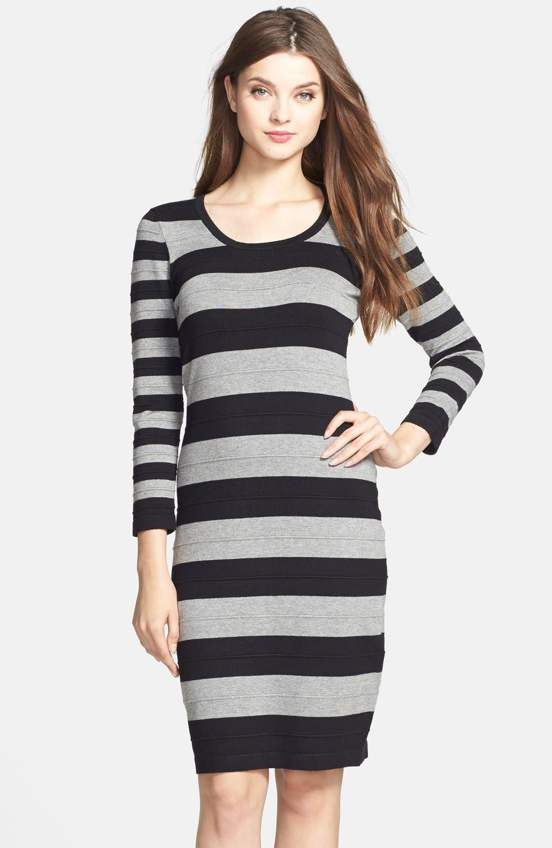 Alternate Image 1 Selected - Gabby Skye Stripe Sweater Dress