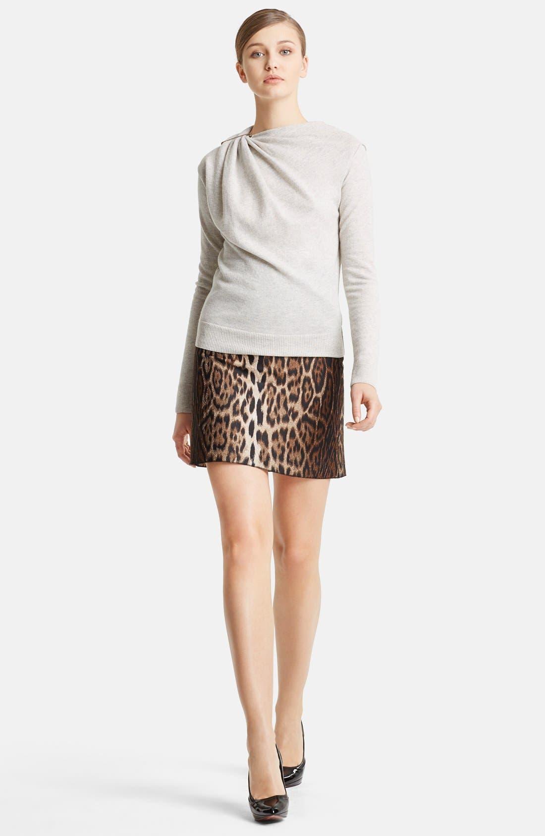 Alternate Image 1 Selected - Lanvin Gathered Shoulder Wool Sweater