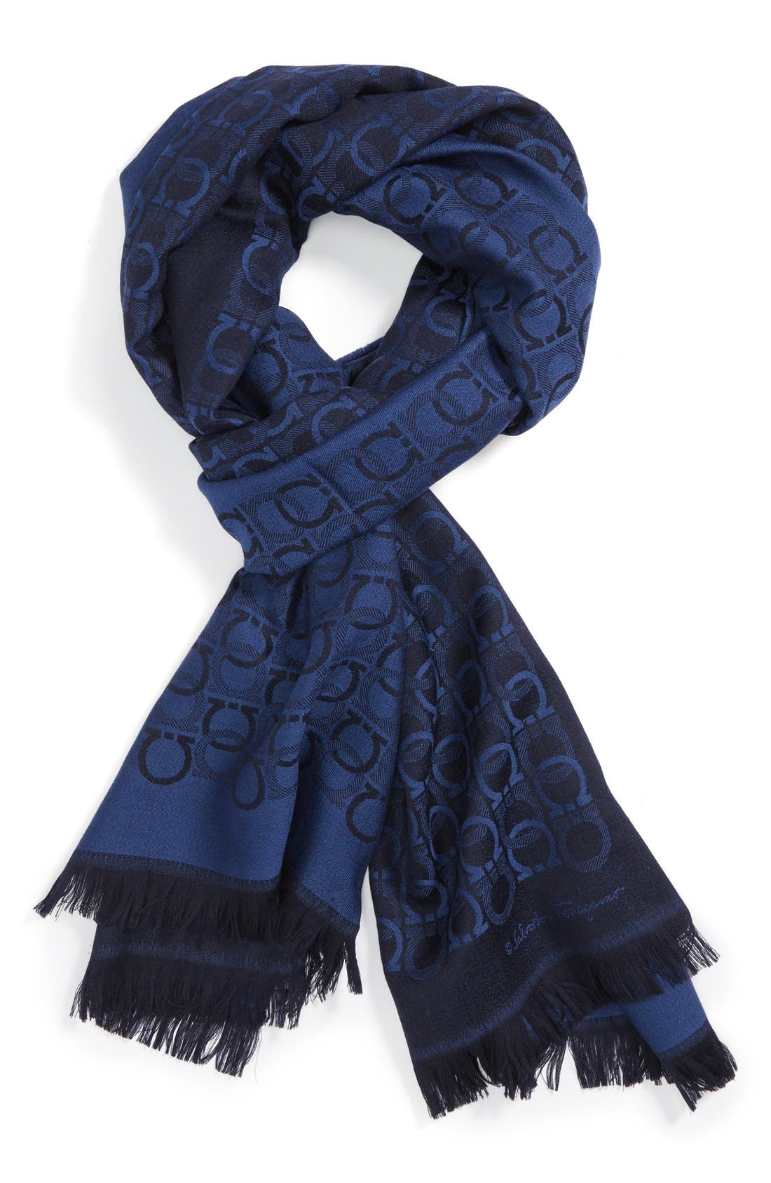 Alternate Image 1 Selected - Salvatore Ferragamo Gancini Wool Scarf