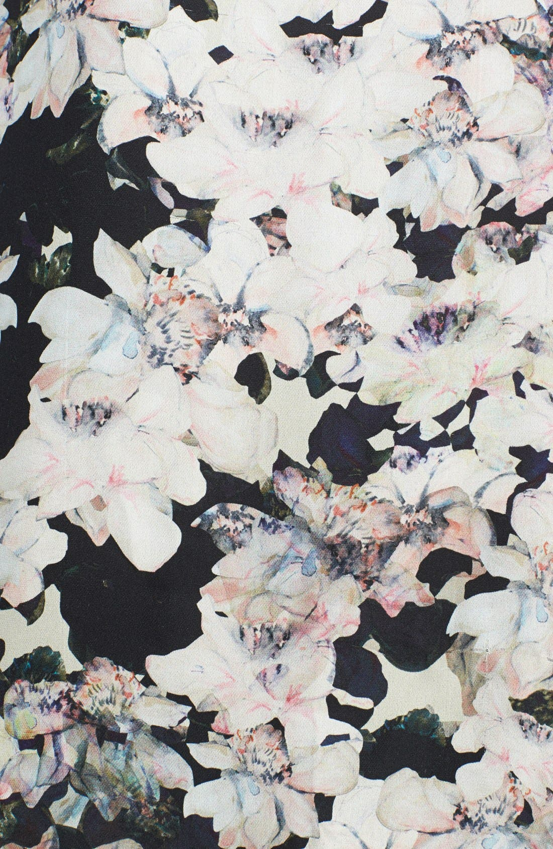 Alternate Image 3  - Rebecca Taylor 'Frosted Flower' Print Silk Top
