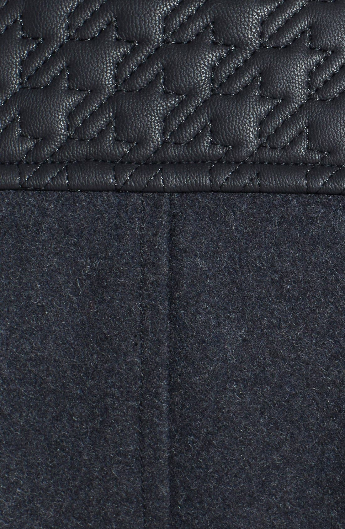 Alternate Image 3  - GUESS Faux Leather Trim Stand Collar Wool Blend Coat