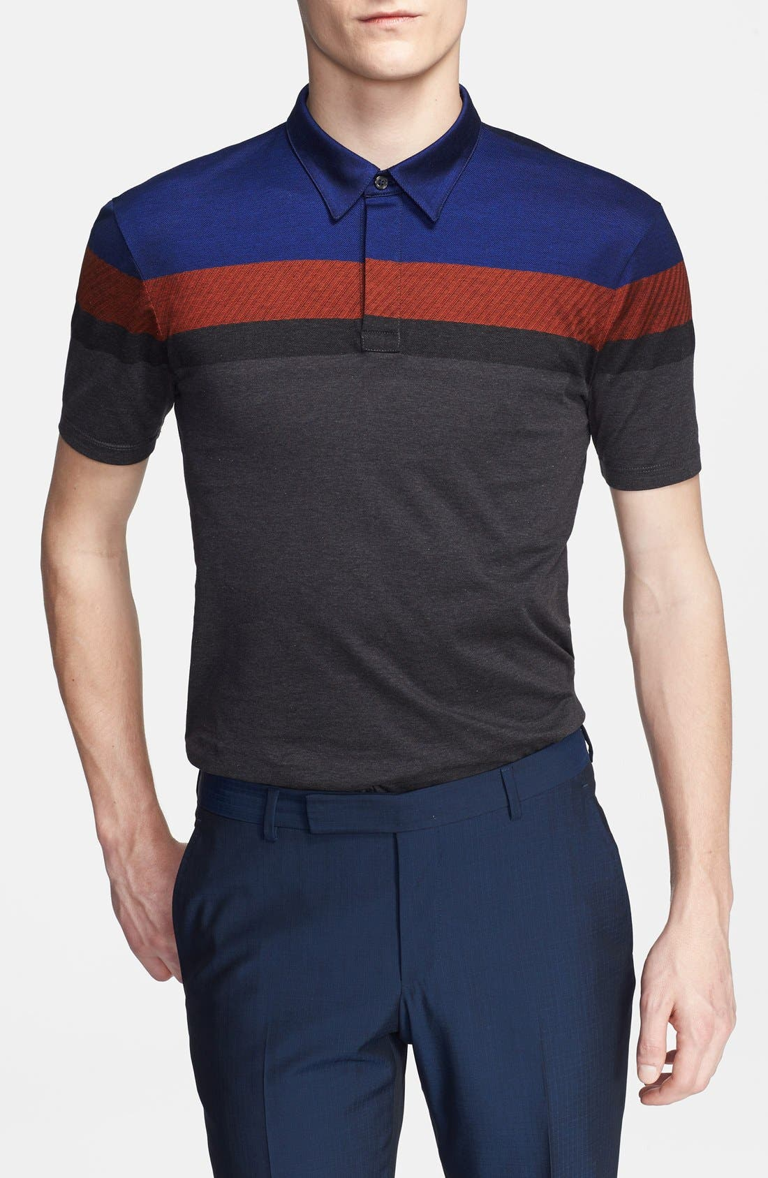 Alternate Image 1 Selected - Z Zegna Colorblock Polo