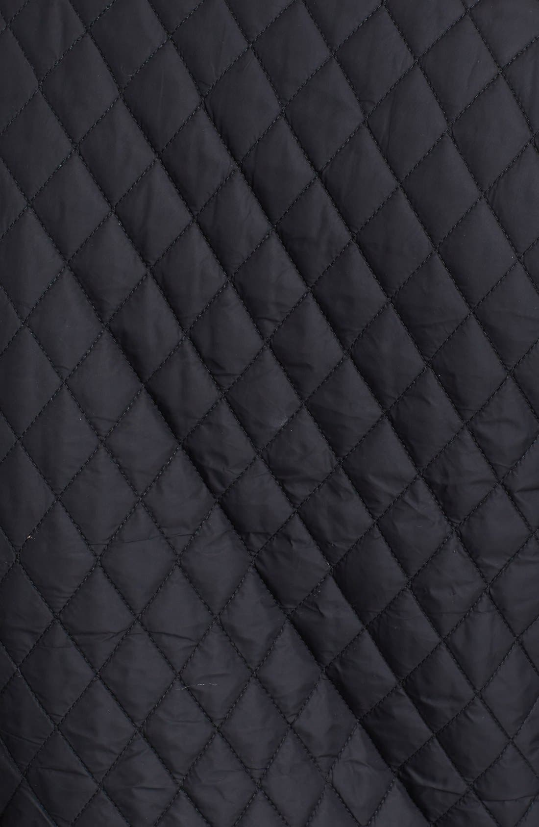 Alternate Image 3  - Ralph Lauren Black Label Quilted Moto Jacket