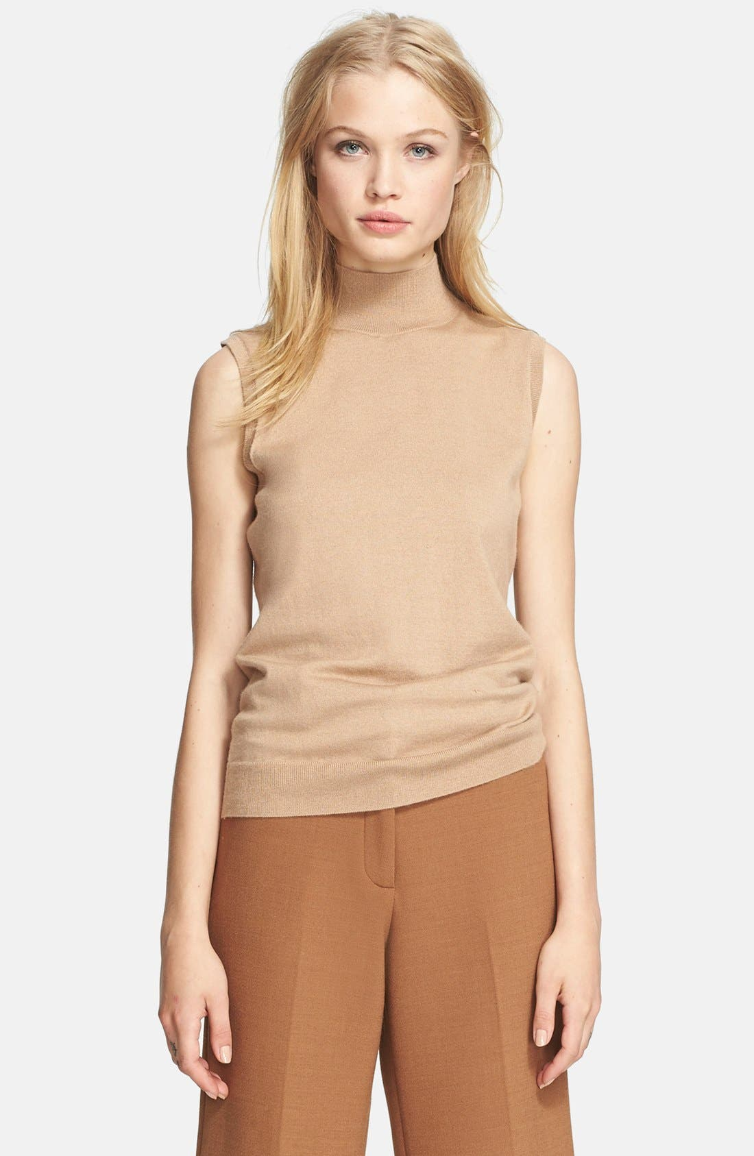 Alternate Image 1 Selected - Theory Sleeveless Cashmere Blend Sweater