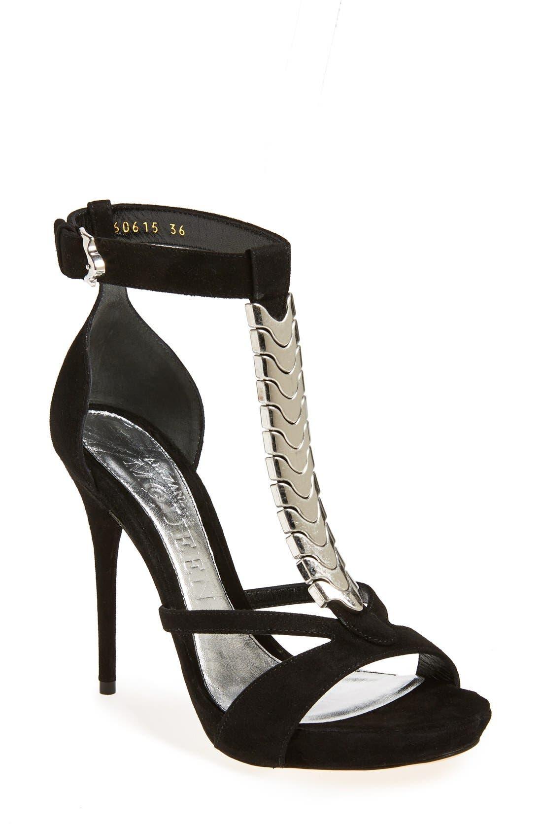 Alternate Image 1 Selected - Alexander McQueen T-Strap Sandal (Women)