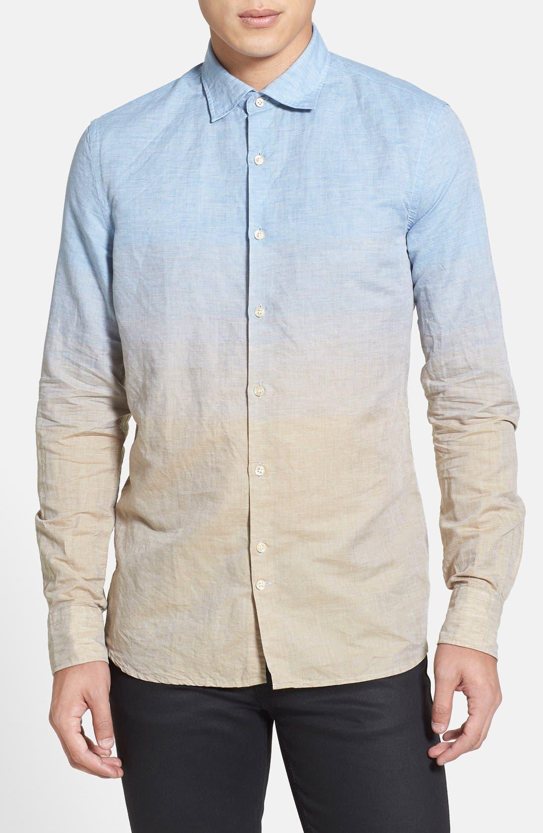 Main Image - J. Lindeberg 'Dani 42 - Sunrise' Slim Fit Sport Shirt