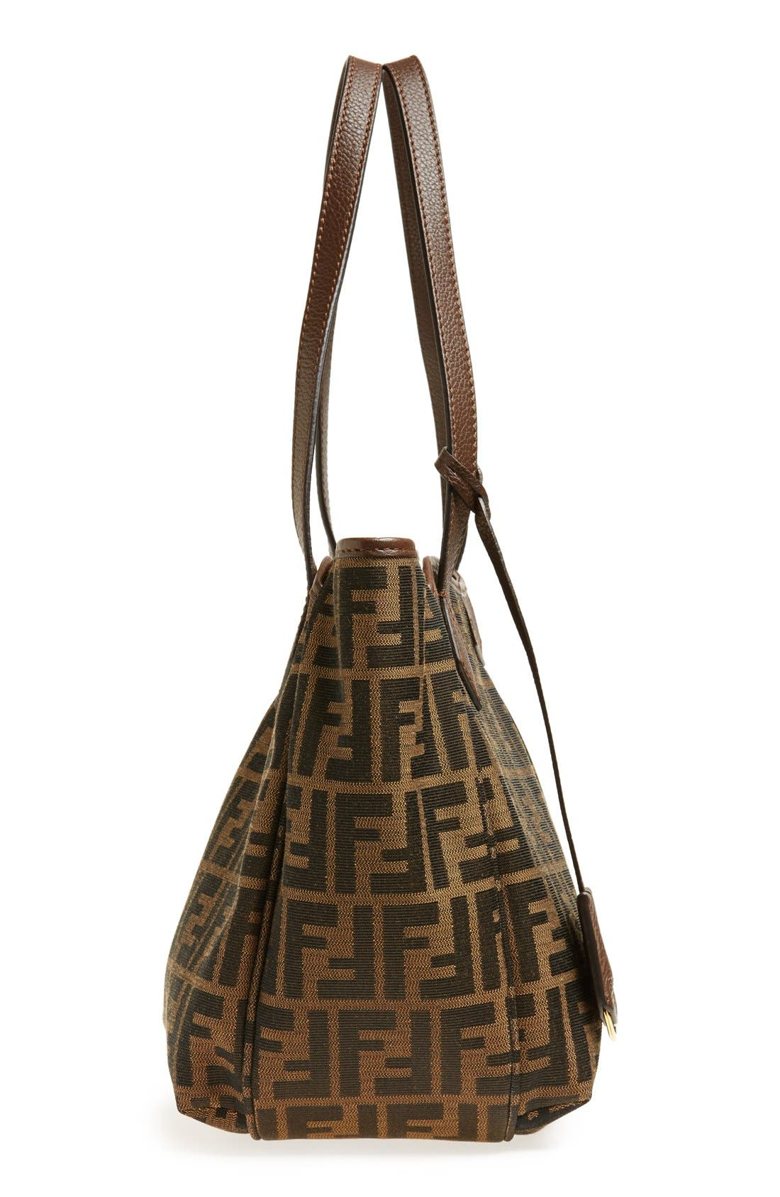 Alternate Image 5  - Fendi 'Small Zucca' Pleated Shopper