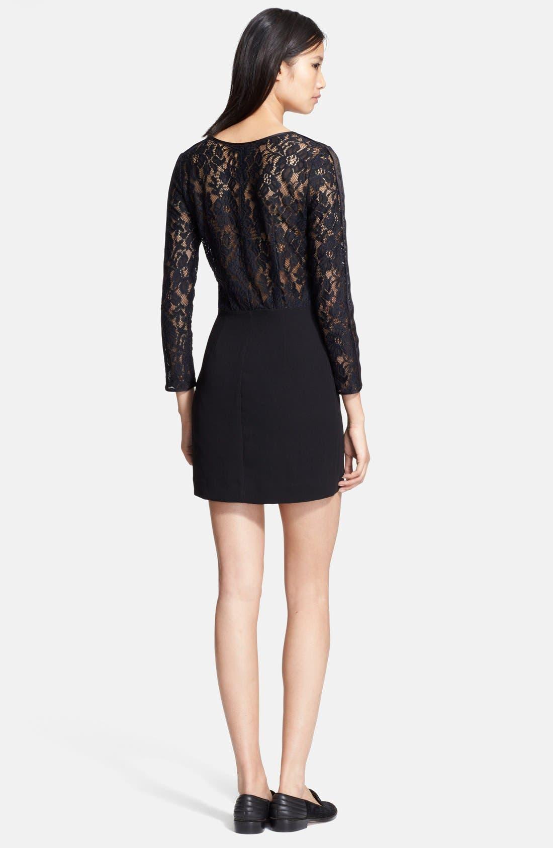 Alternate Image 2  - The Kooples Lace & Crepe Sheath Dress