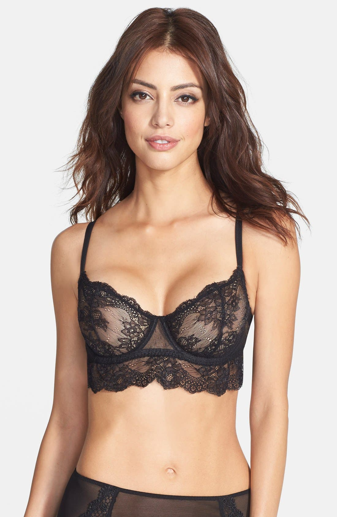 Alternate Image 1 Selected - Catherine Malandrino Longline Lace Demi Bra