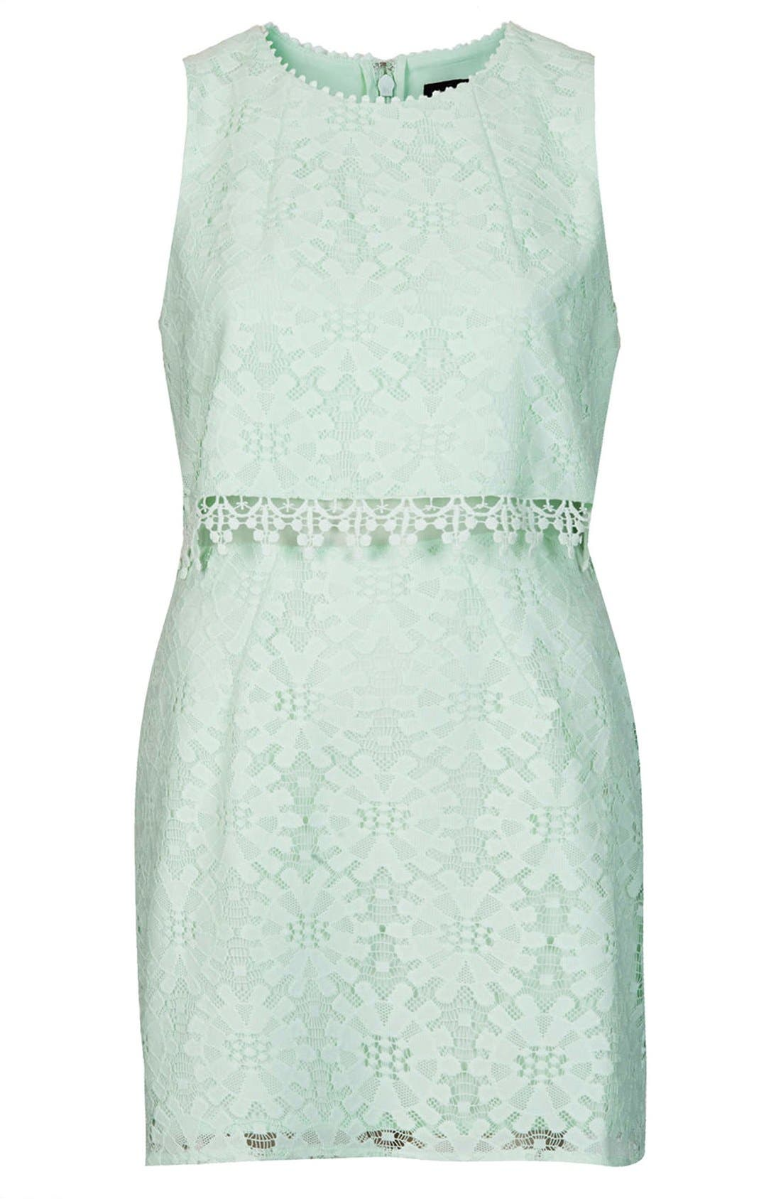 Alternate Image 3  - Topshop Lace Tiered Shift Dress