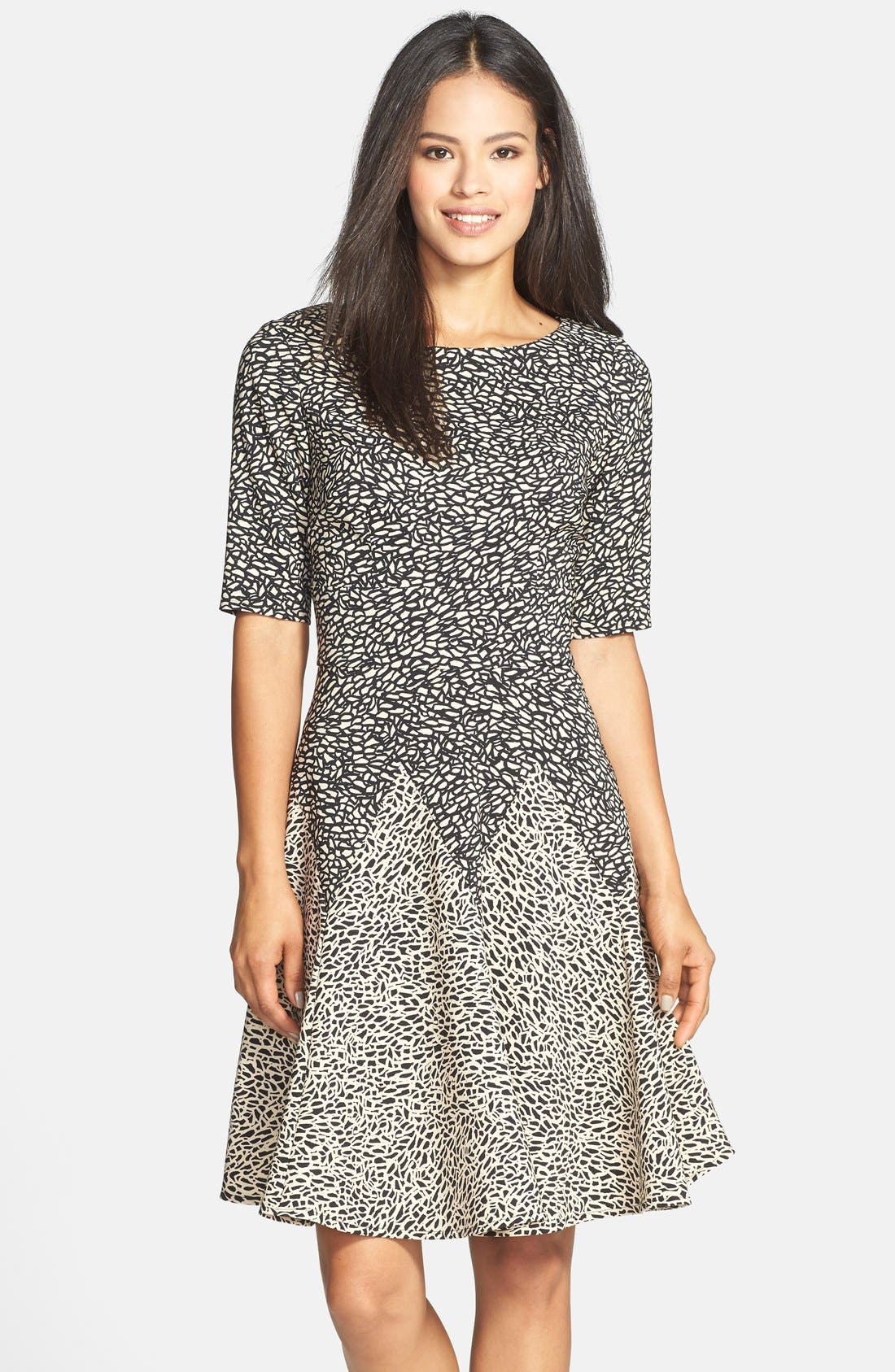 Alternate Image 1 Selected - Gabby Skye Print Ponte Fit & Flare Dress
