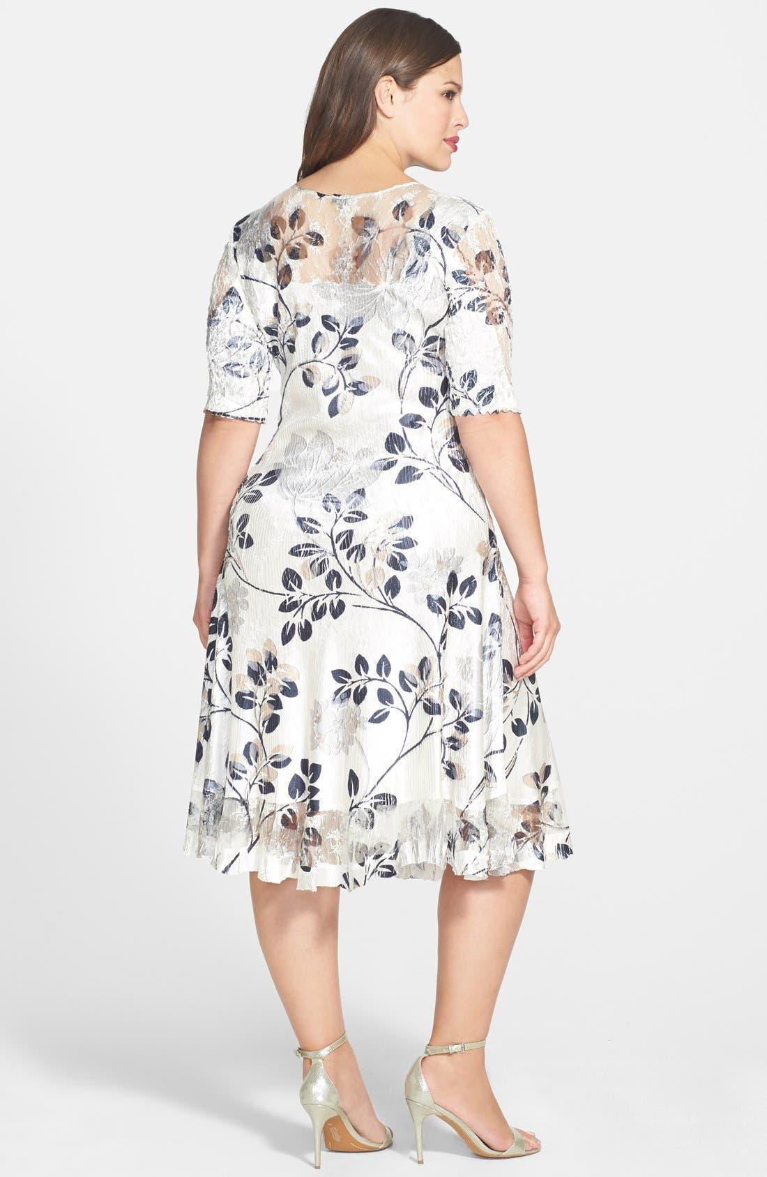 Alternate Image 2  - Komarov Pleated Dress (Plus Size)