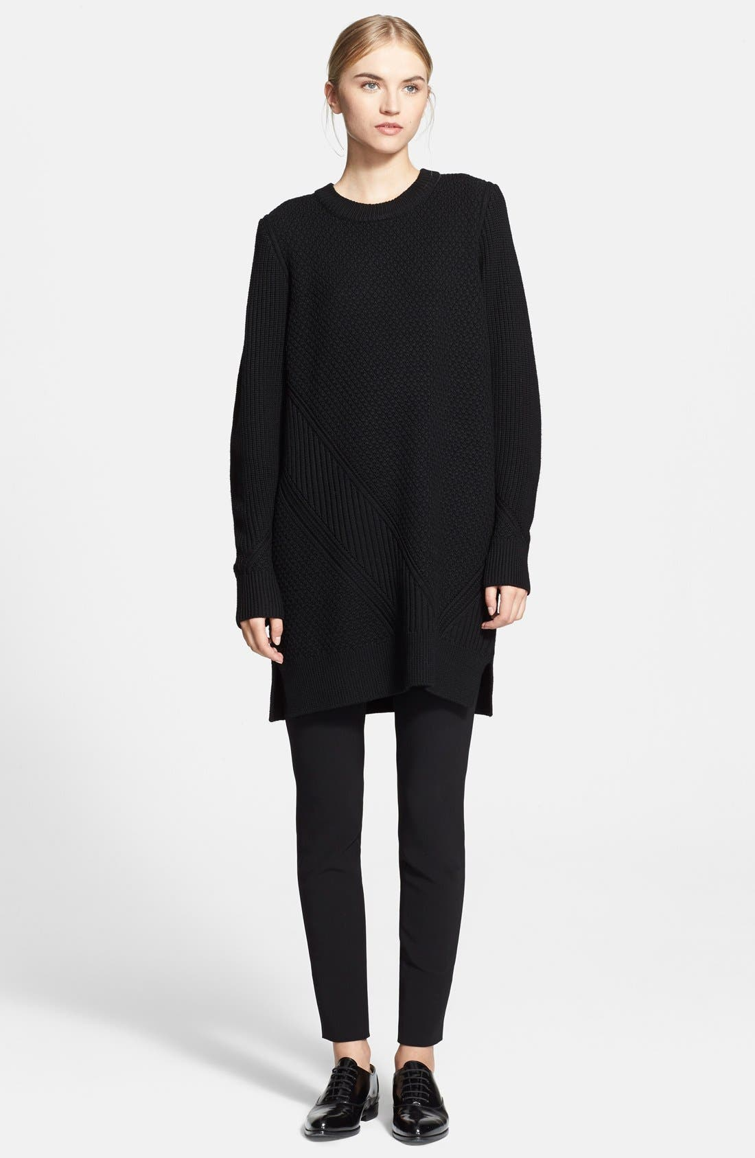 Alternate Image 1 Selected - Proenza Schouler Mix Stitch Crewneck Sweater Tunic