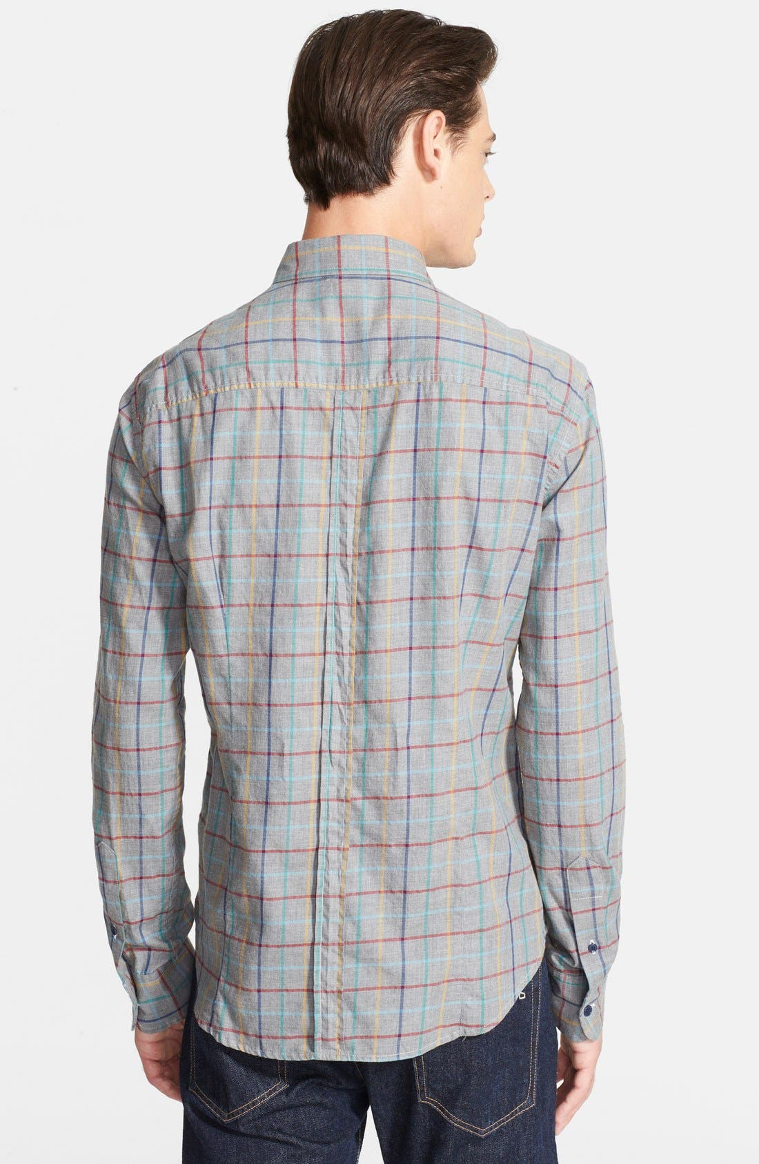 Alternate Image 3  - Band of Outsiders Extra Trim Fit Check Sport Shirt