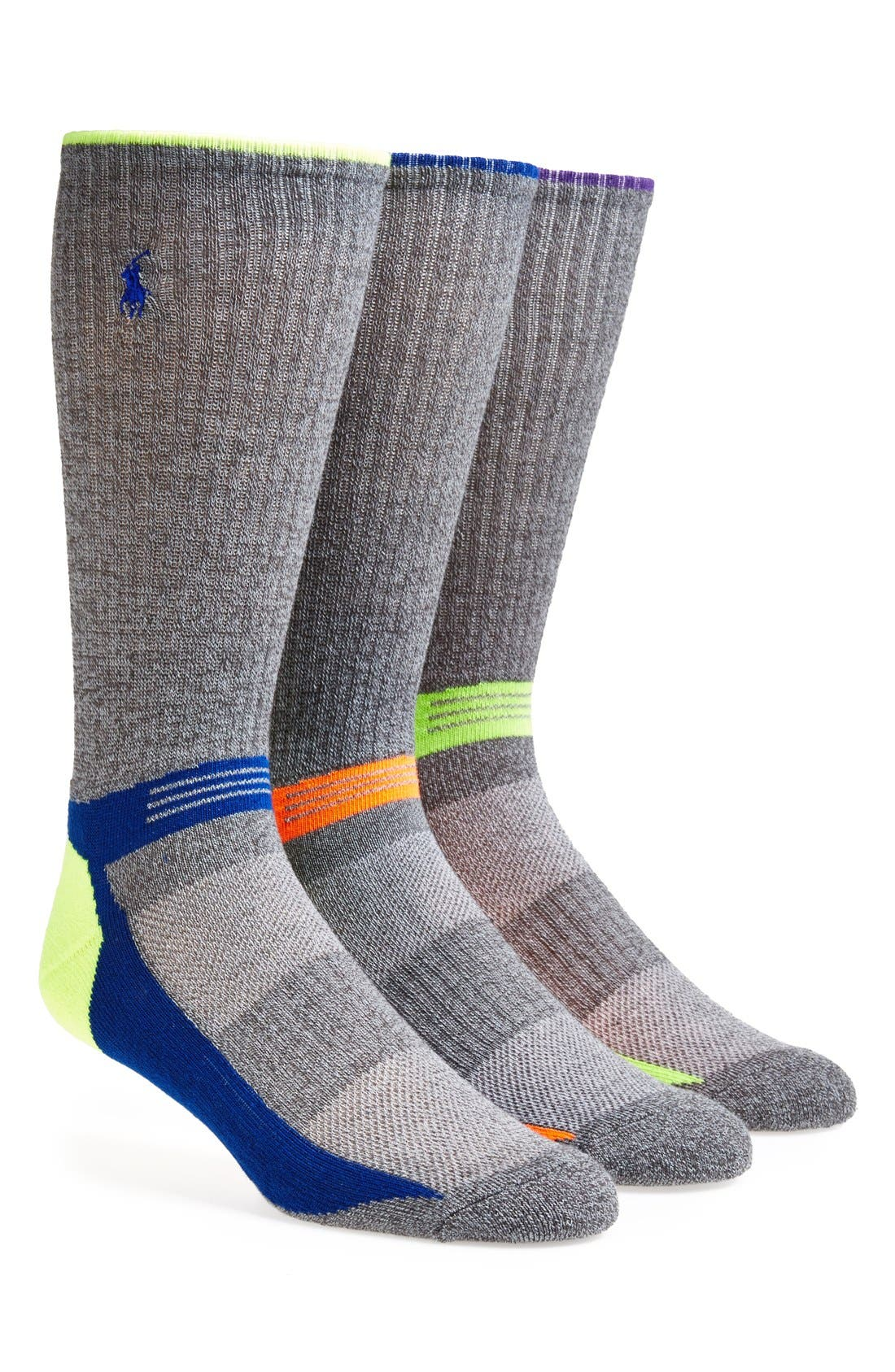 Main Image - Polo Ralph Lauren Athletic Socks (Assorted 3-Pack)