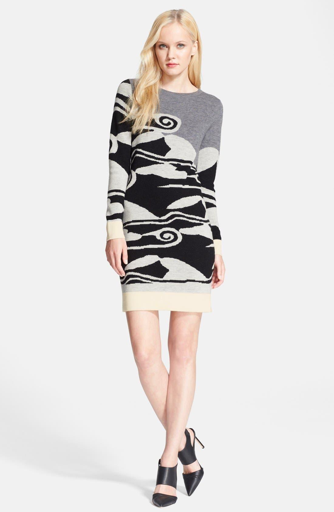 Alternate Image 1 Selected - Diane von Furstenberg 'Look 3' Wool Dress