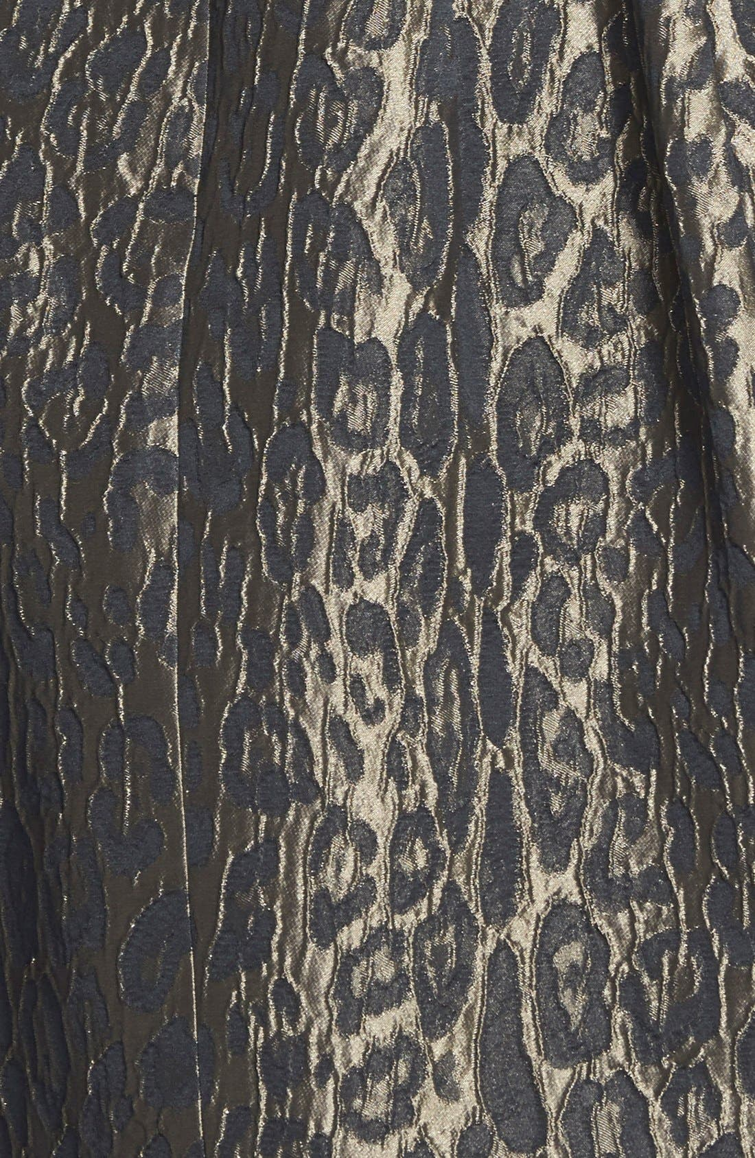 Alternate Image 4  - Alexia Admor Sleeveless Jacquard Fit & Flare Dress