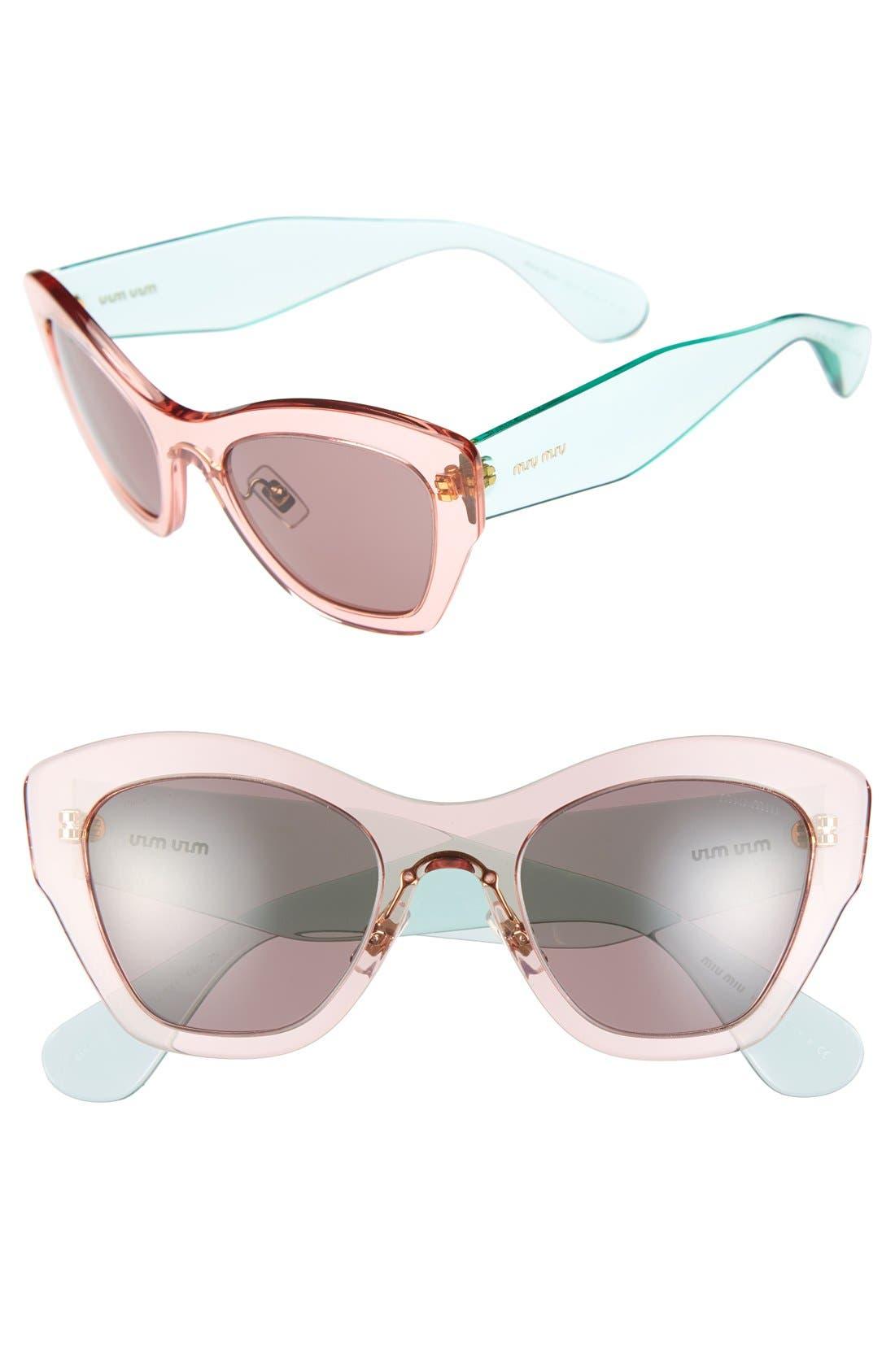 Alternate Image 1 Selected - Miu Miu 52mm Cat Eye Sunglasses