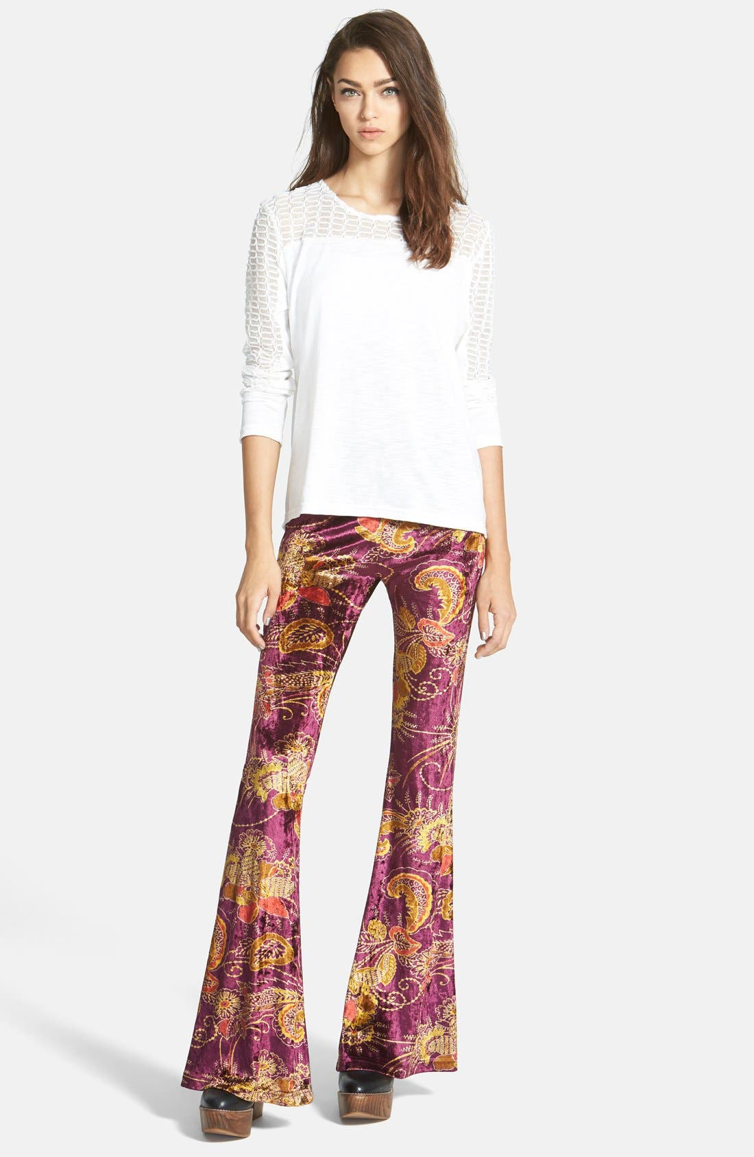 Alternate Image 4  - Raga Paisley Bell Bottom Pants