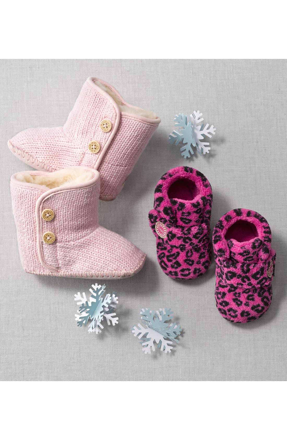 Alternate Image 5  - UGG® Purl Knit Bootie (Baby & Walker)