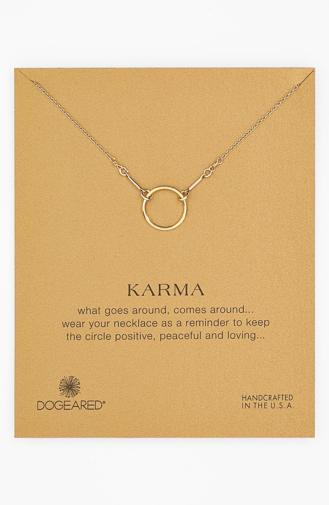 Main Image - Dogeared 'Reminder - Karma' Pendant Necklace