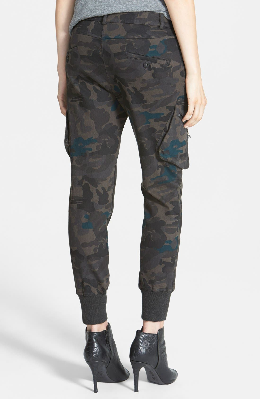 Alternate Image 2  - James Jeans Slouchy Camouflage Cargo Pants