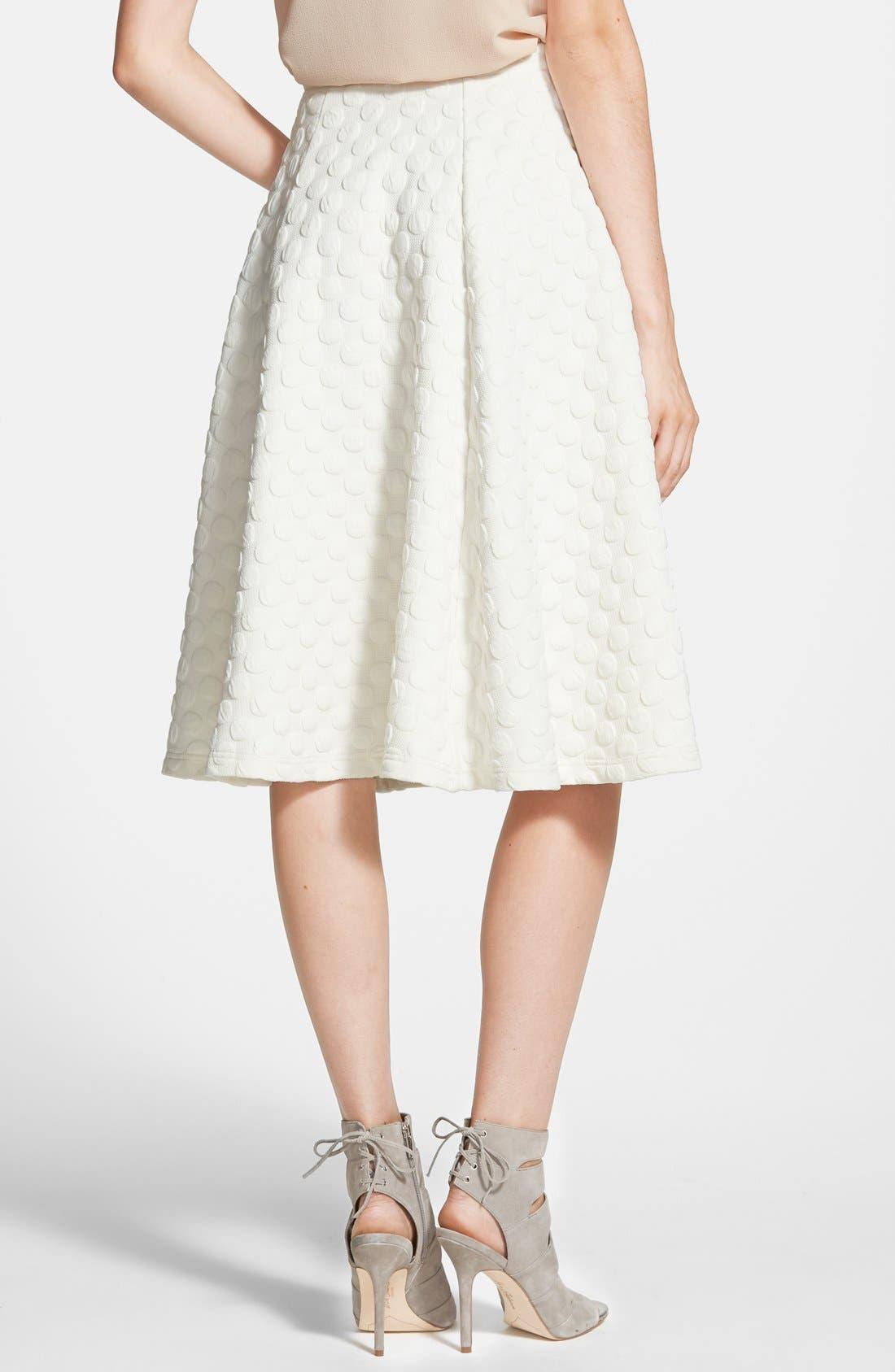Alternate Image 2  - JOA Polka Dot Midi Skirt