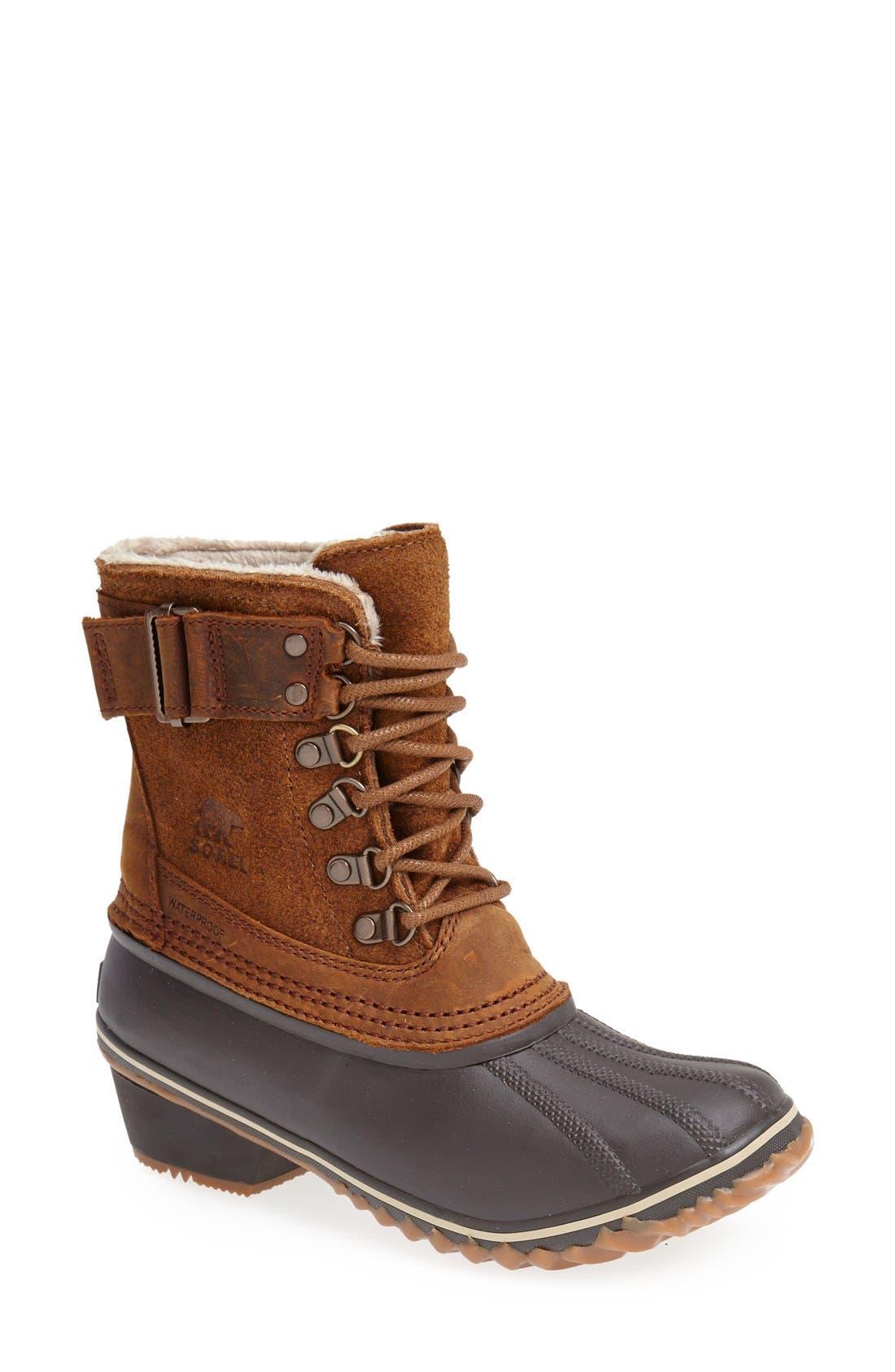 Alternate Image 1 Selected - SOREL 'Winter Fancy II' Waterproof Lace-Up Boot (Women)