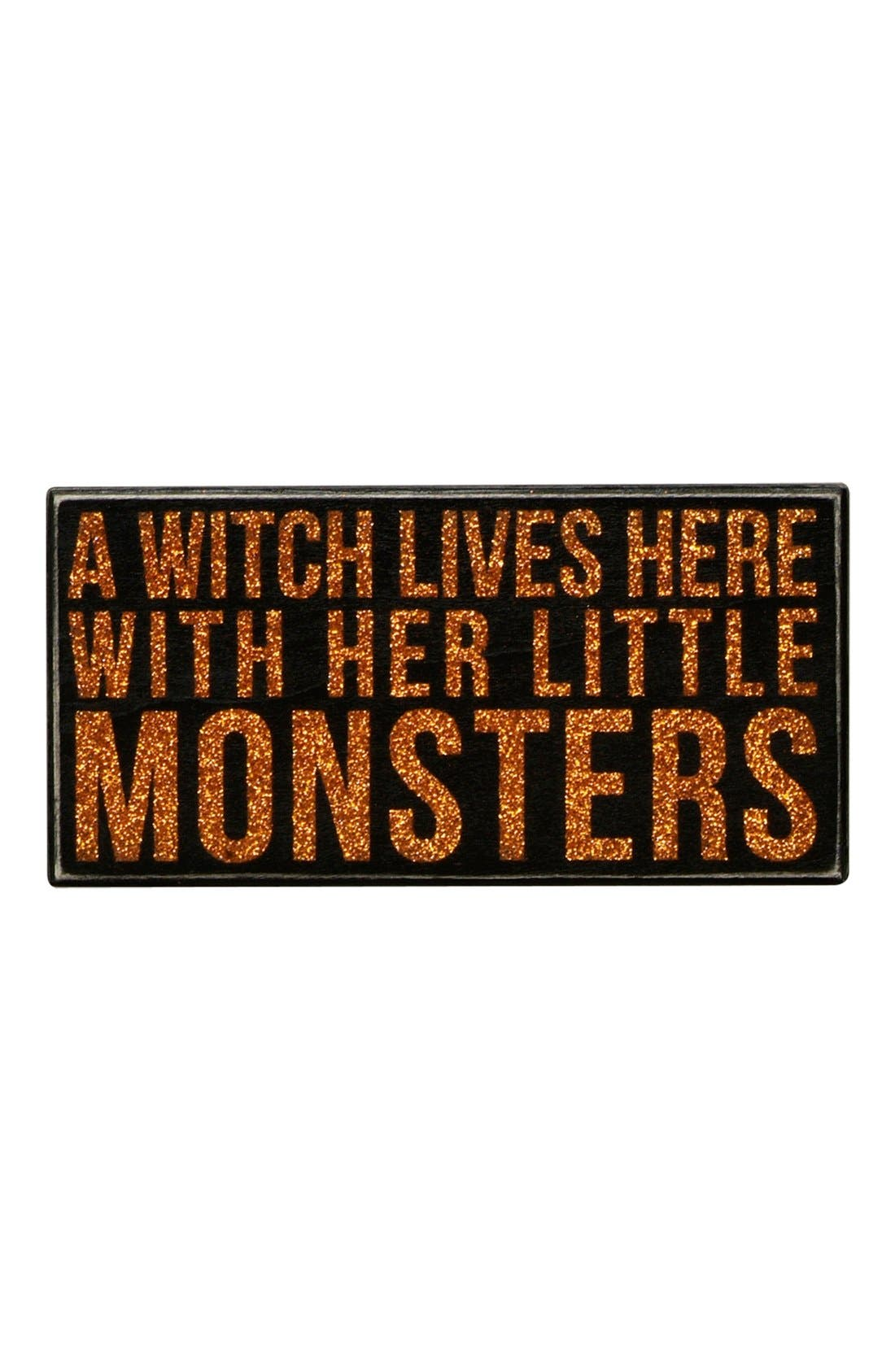 Main Image - Primitives by Kathy 'A Witch Lives Here With Her Little Monsters' Box Sign