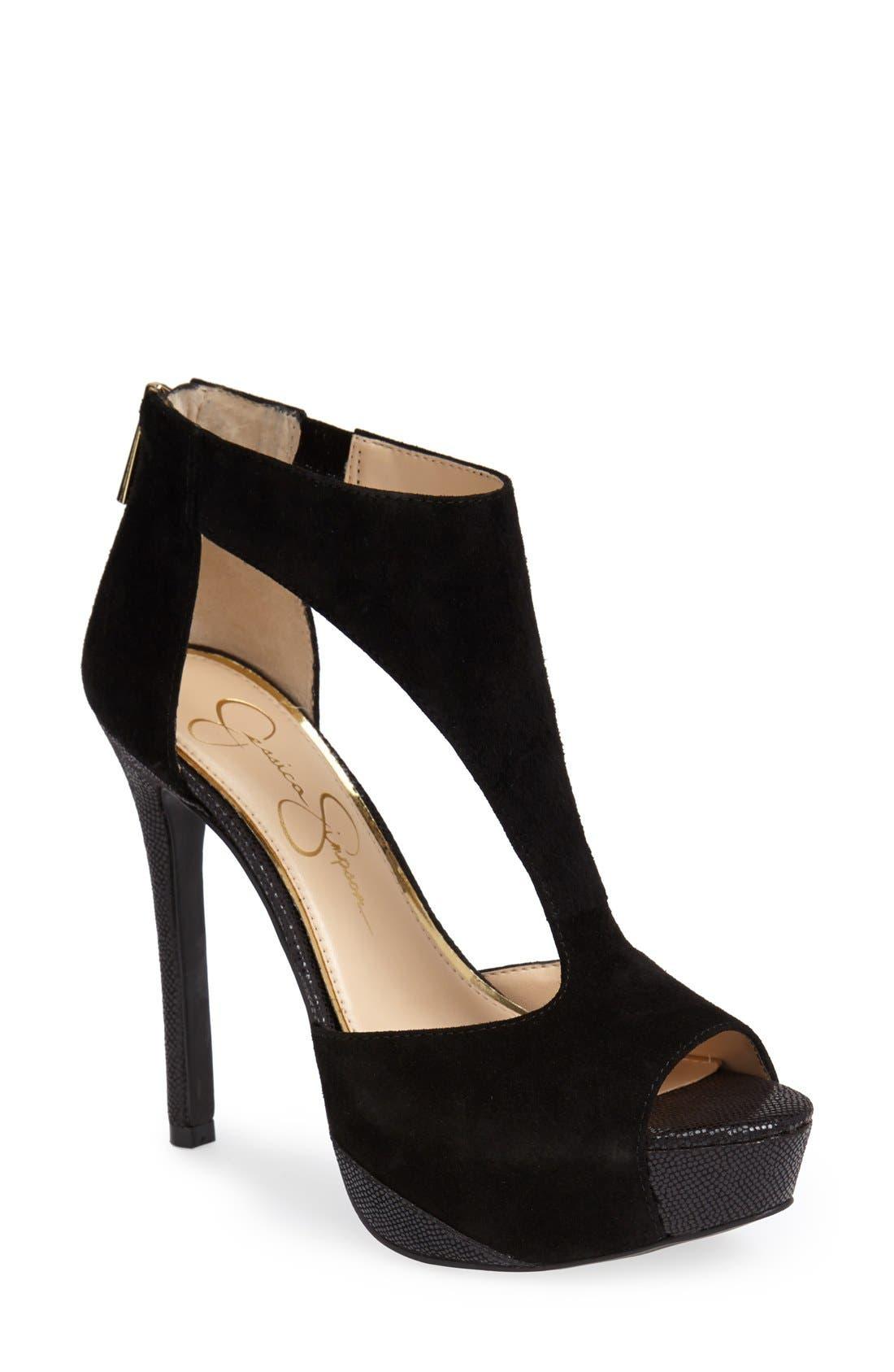 Alternate Image 1 Selected - Jessica Simpson 'Carideo' Platform Sandal (Women)