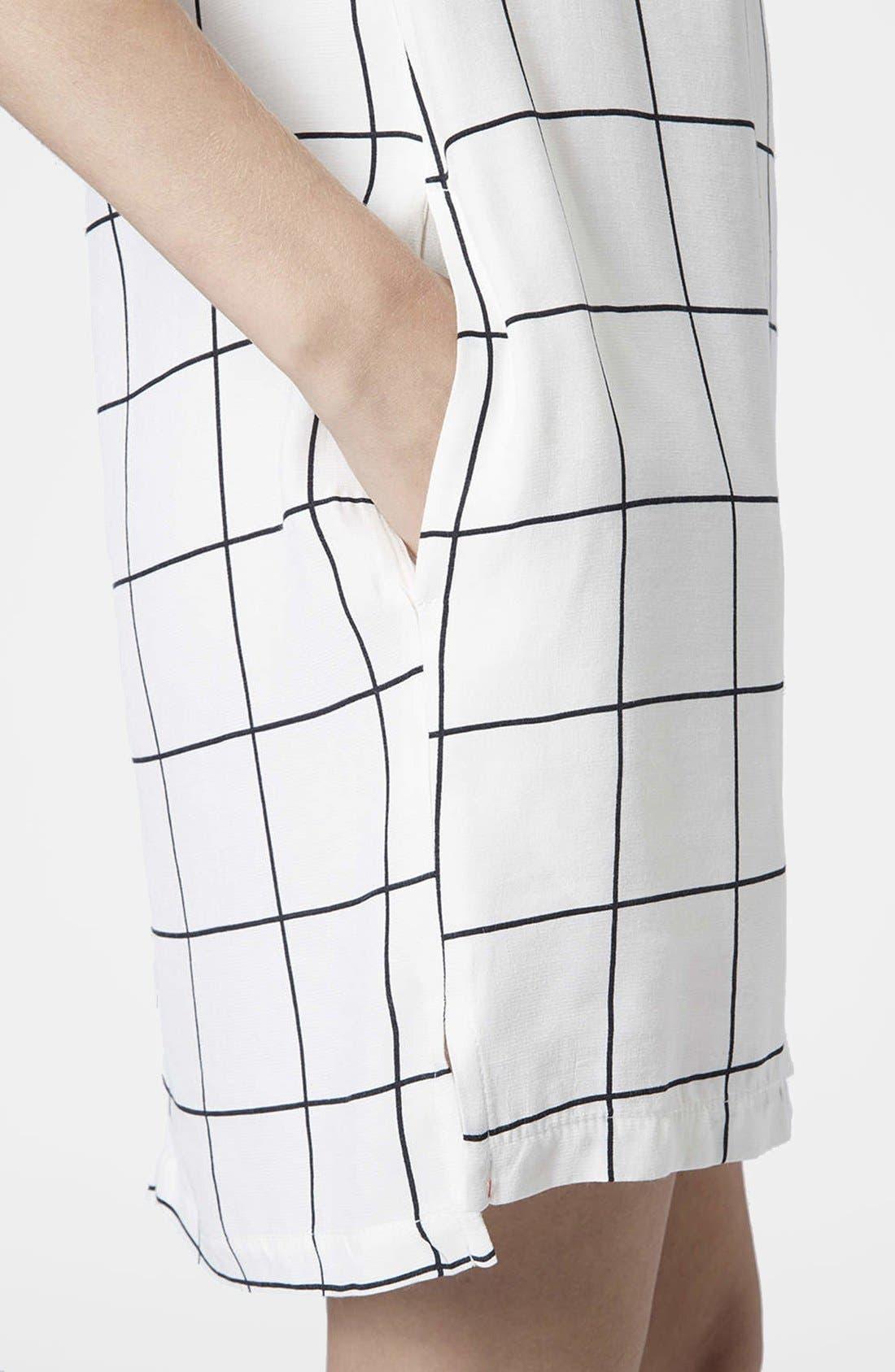 Alternate Image 4  - Topshop Grid Print Tunic Dress