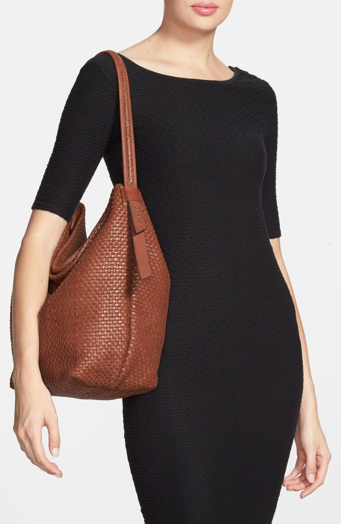 Alternate Image 2  - Cole Haan 'Bethany - Large' Woven Leather Hobo